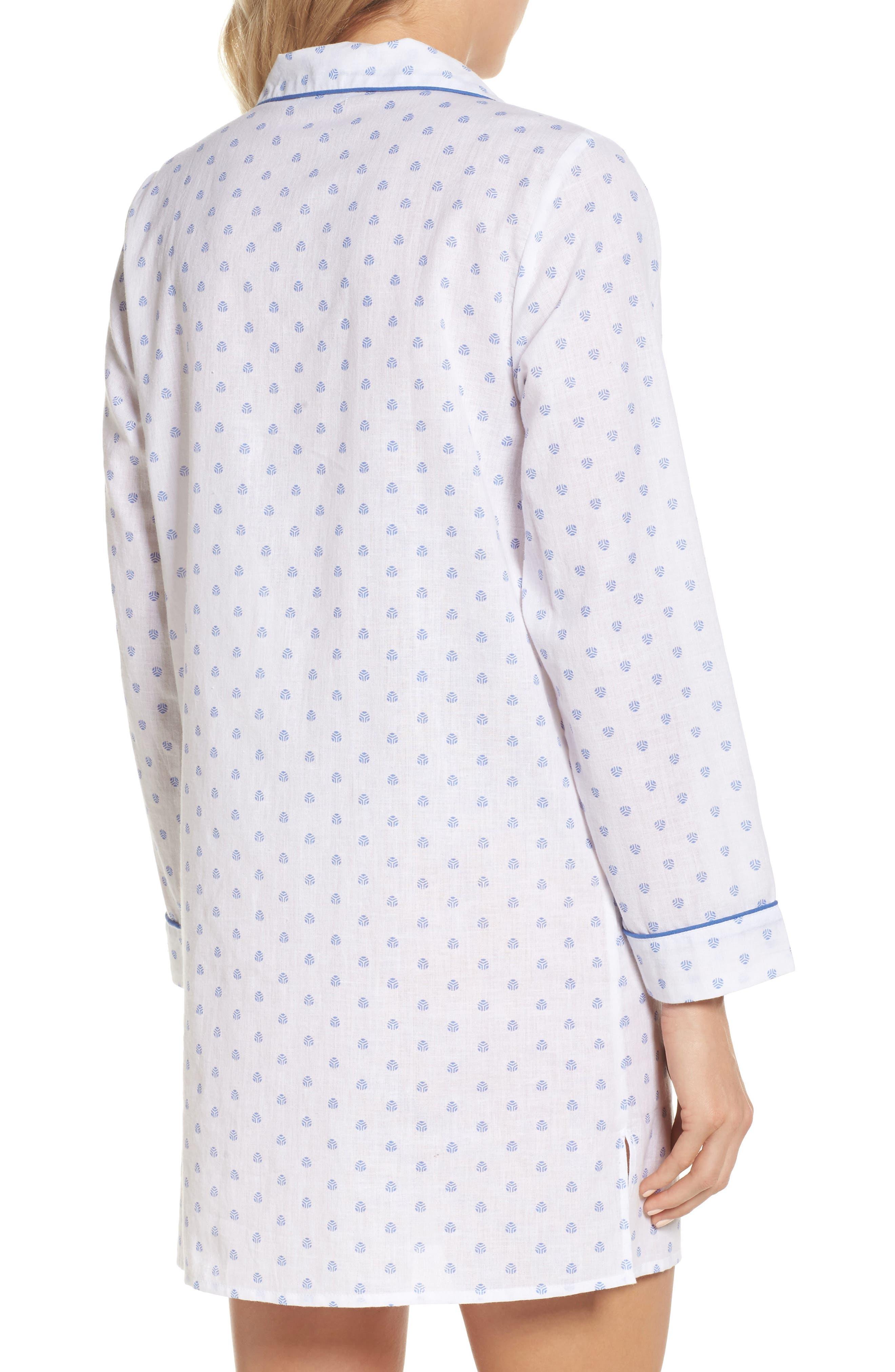 Print Washed Cotton Sleep Shirt,                             Alternate thumbnail 2, color,                             100