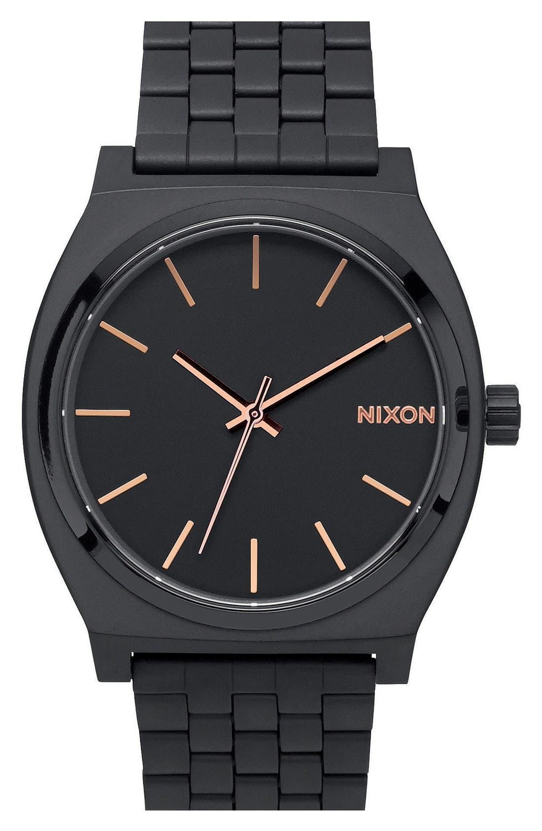 'The Time Teller' Bracelet Watch, 37mm,                             Main thumbnail 1, color,                             BLACK