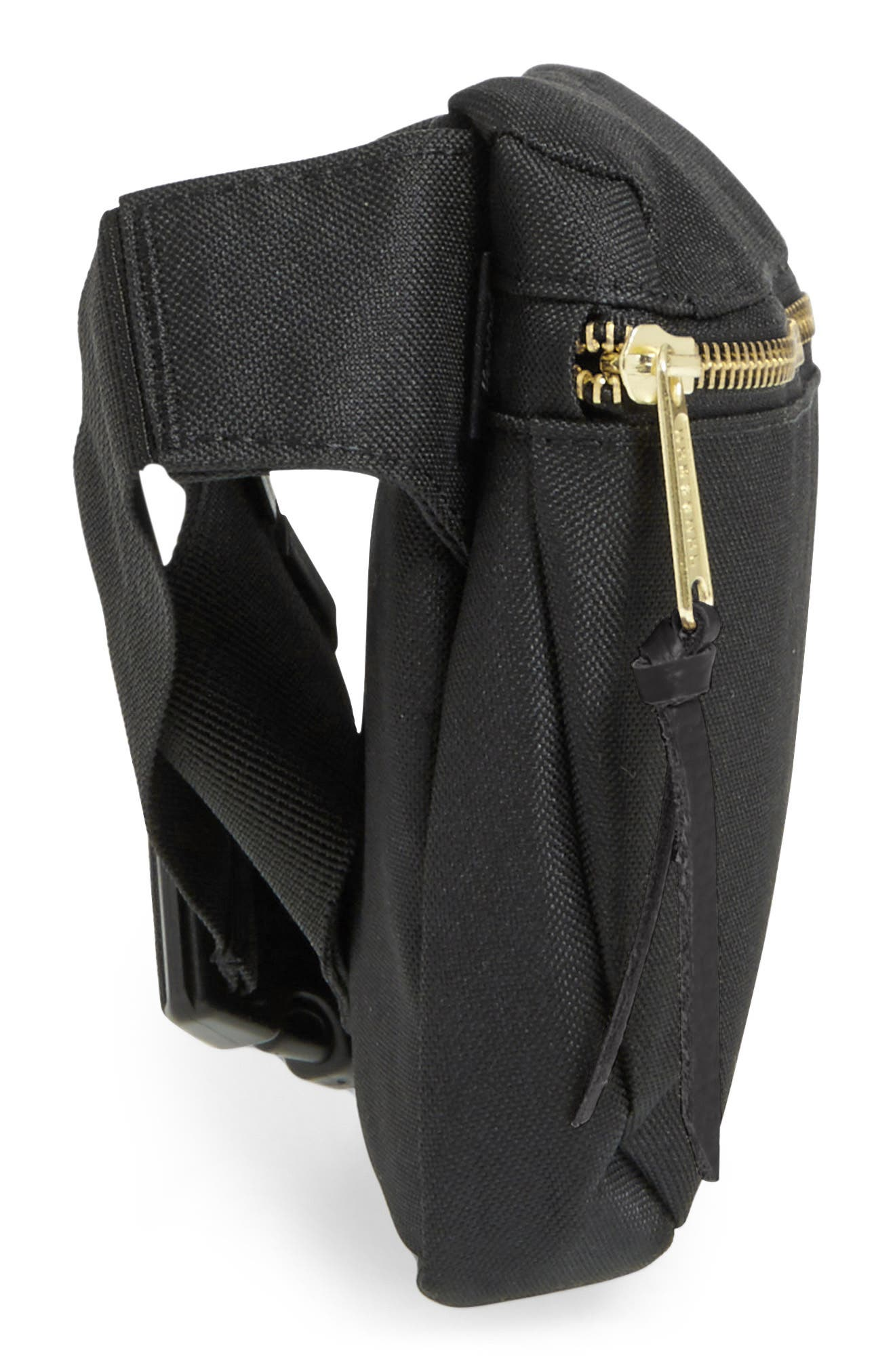 Fifteen Belt Bag,                             Alternate thumbnail 4, color,                             BLACK