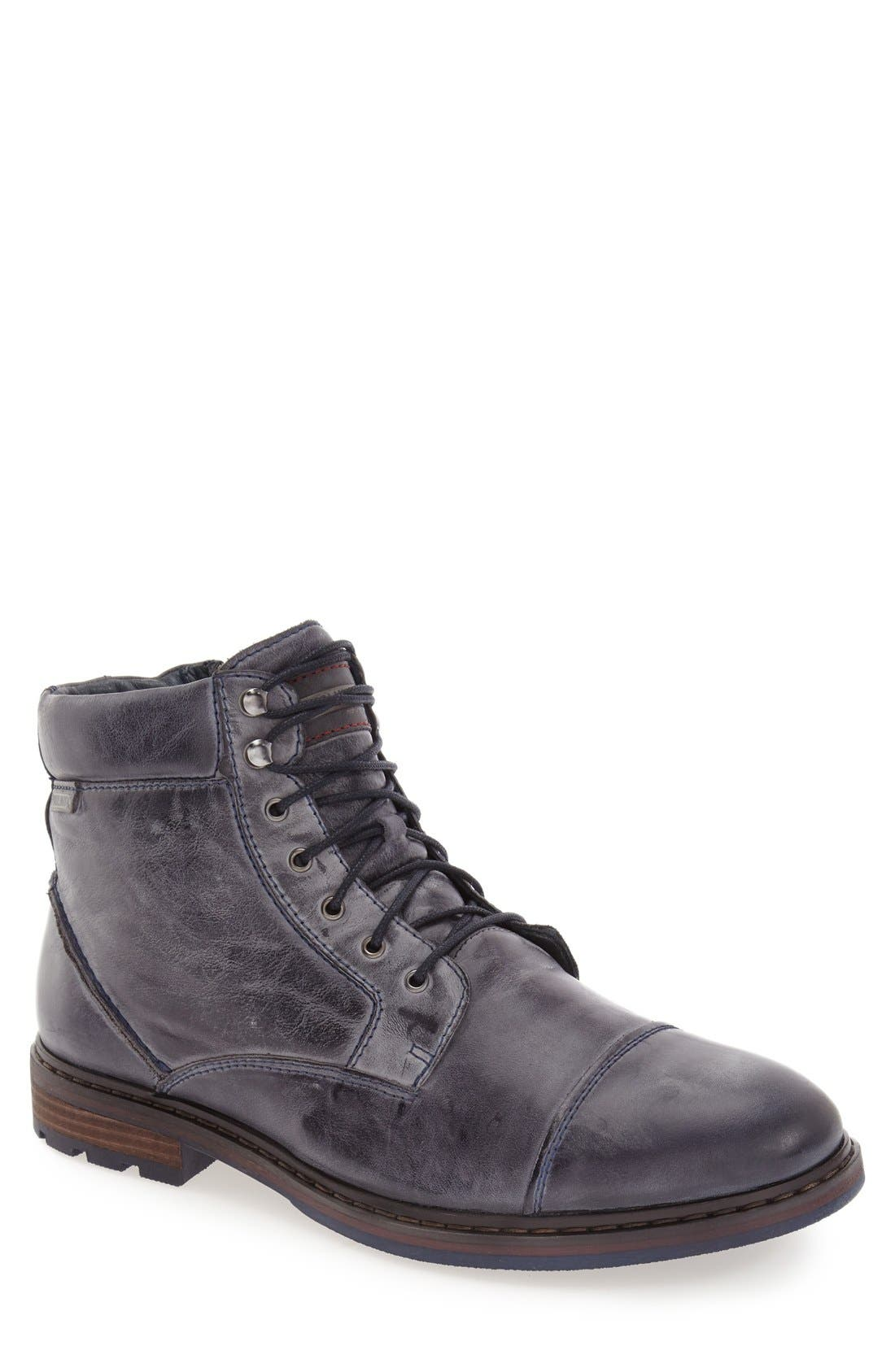 'Cacers' Lace-Up Zip Boot,                             Main thumbnail 3, color,