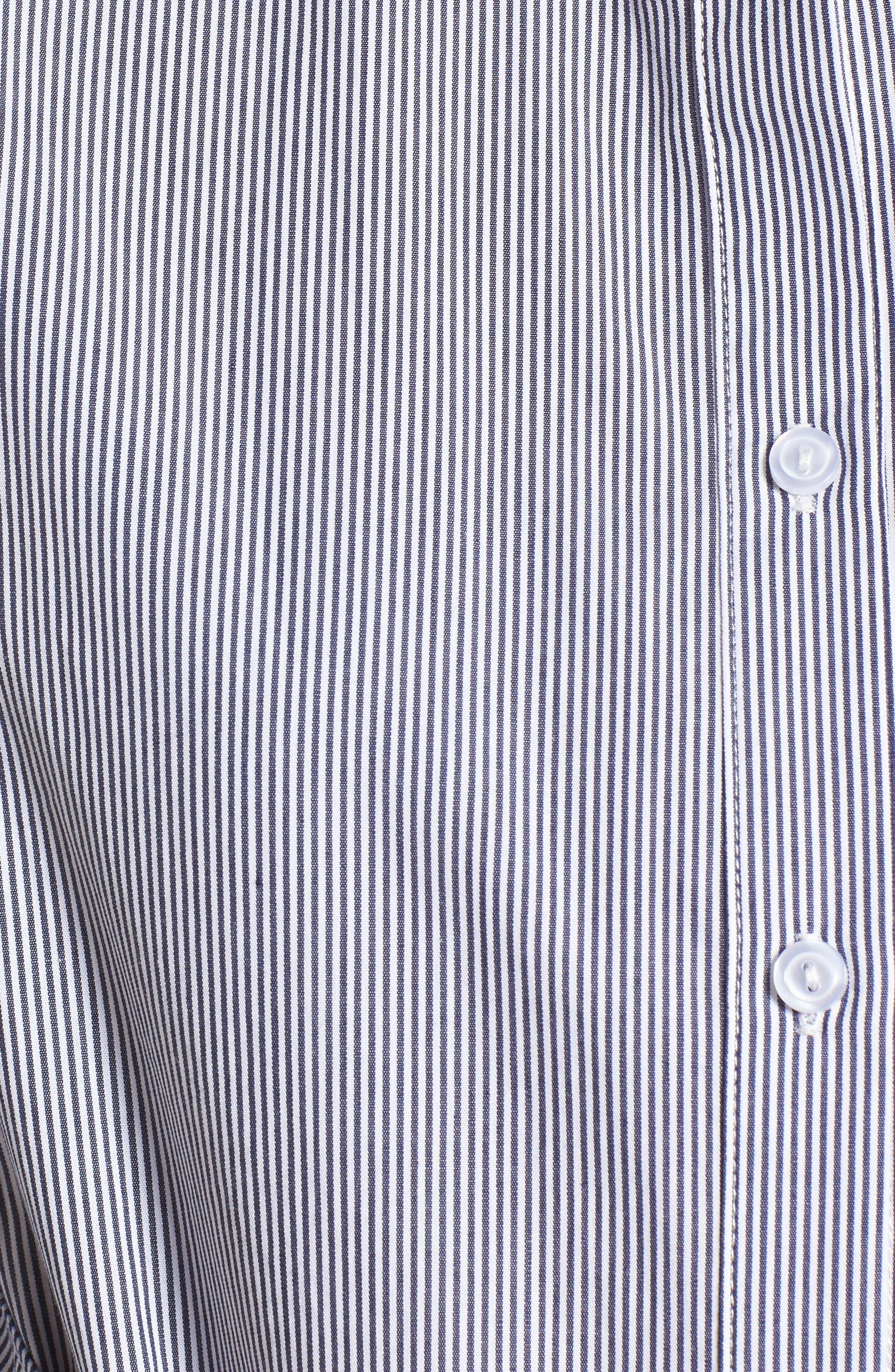 Tie Waist Shirtdress,                             Alternate thumbnail 5, color,                             001