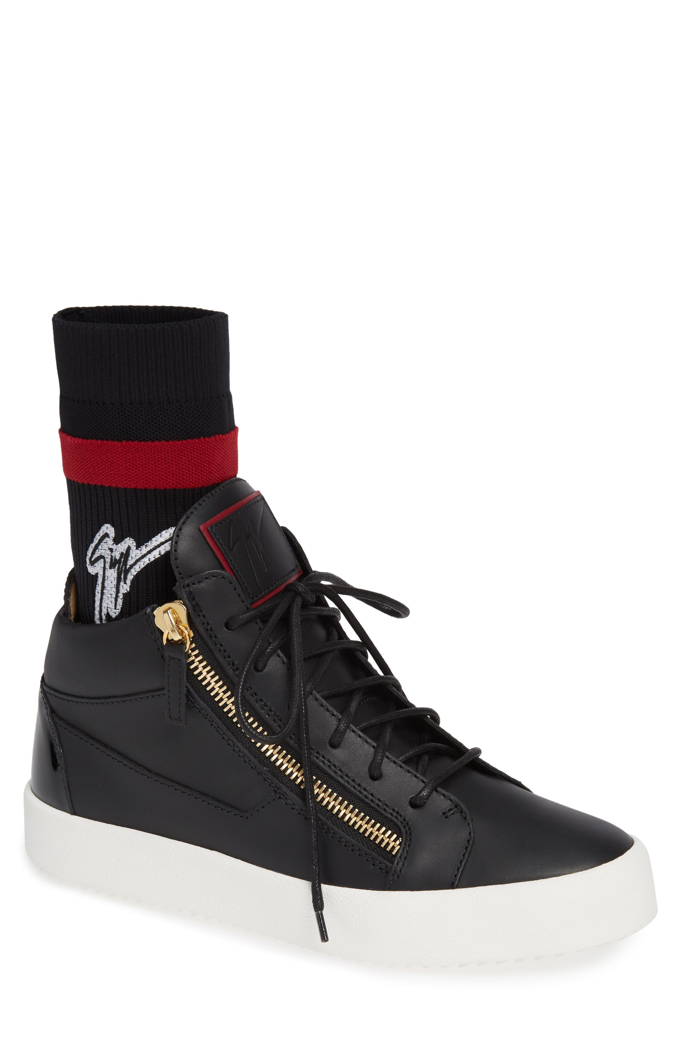 Mid-Top Sneaker,                             Main thumbnail 1, color,                             NERO