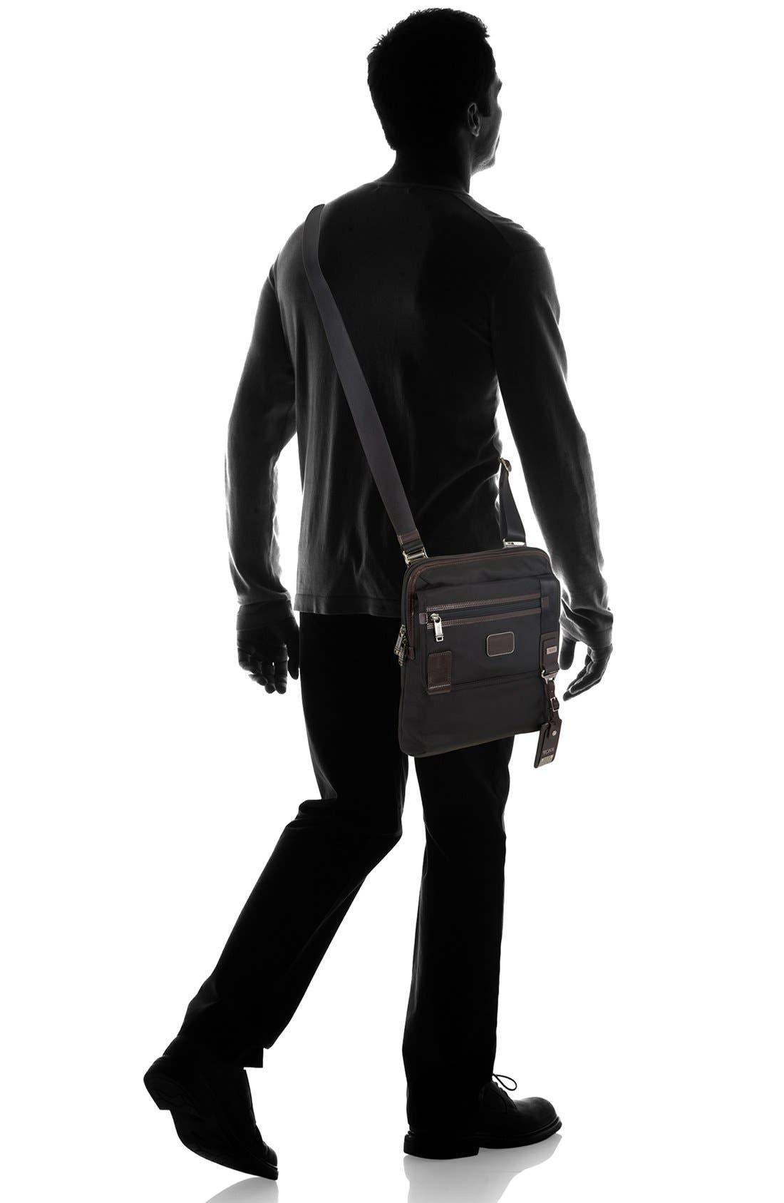 TUMI,                             'Alpha Bravo - Annapolis' Zip Flap Messenger Bag,                             Alternate thumbnail 6, color,                             001