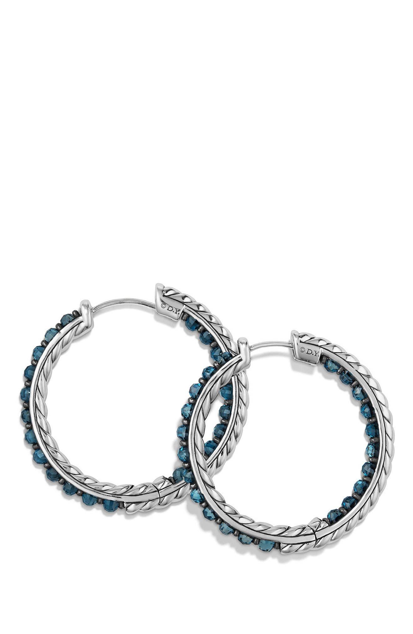 Cable Berries  Hoop Earrings,                             Alternate thumbnail 2, color,                             040