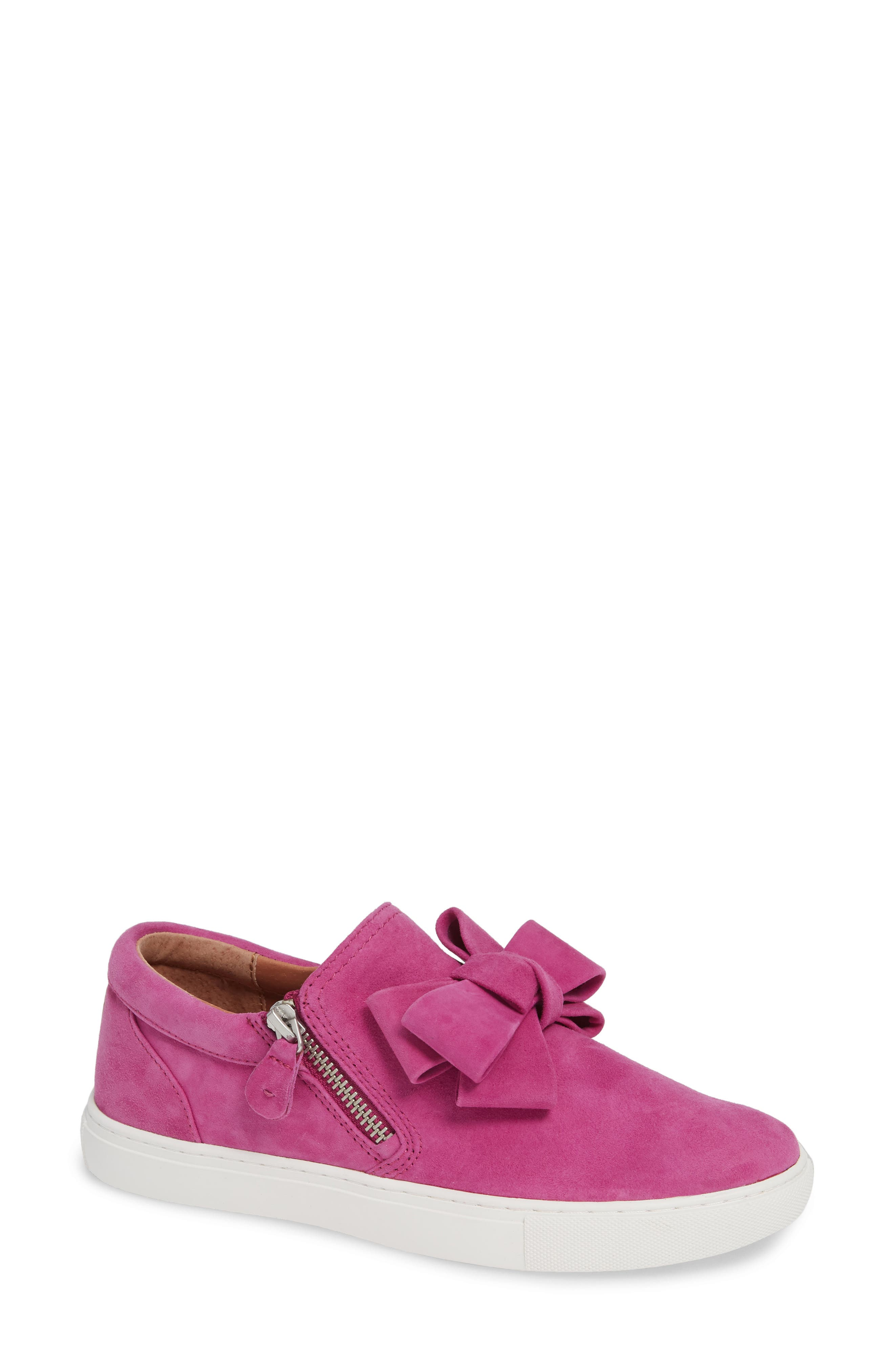 By Kenneth Cole Lowe Bow Sneaker in Magenta Suede