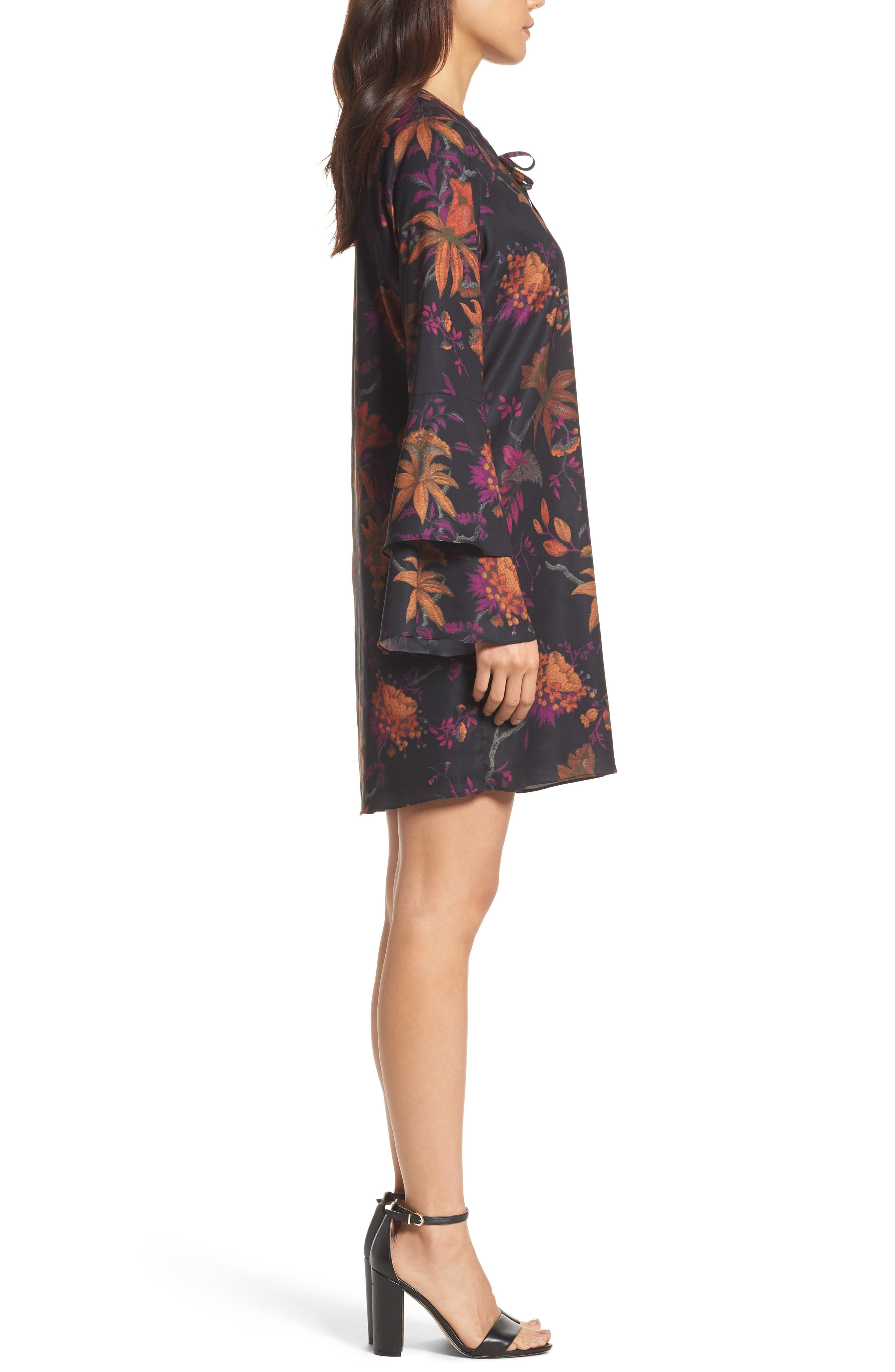 Primrose Bell Sleeve Dress,                             Alternate thumbnail 3, color,                             665
