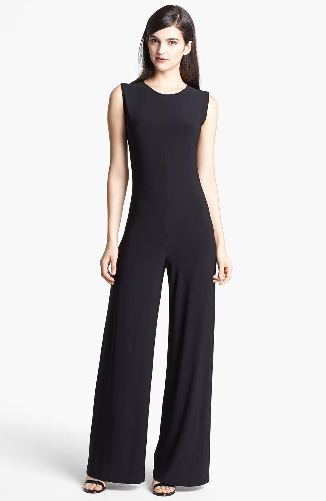 Wide Leg Jersey Jumpsuit, Main, color, 001