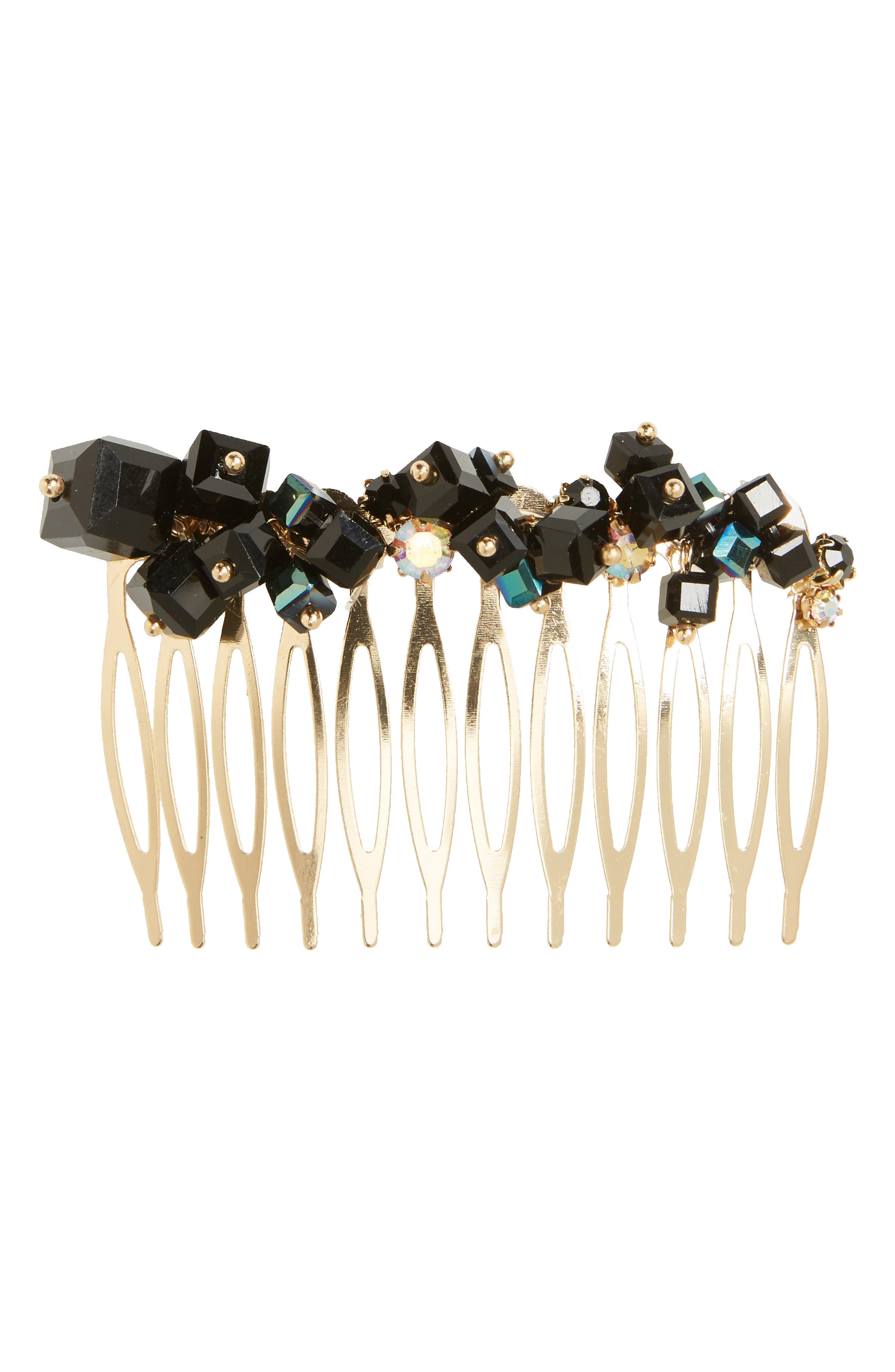 Just Bead It Embellished Hair Comb,                             Main thumbnail 1, color,