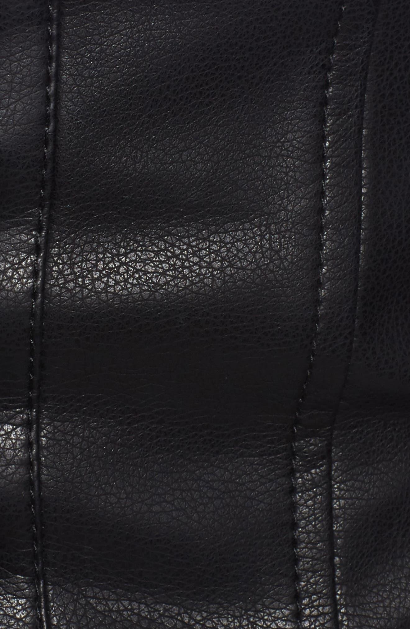 Faux Leather Corset,                             Alternate thumbnail 5, color,