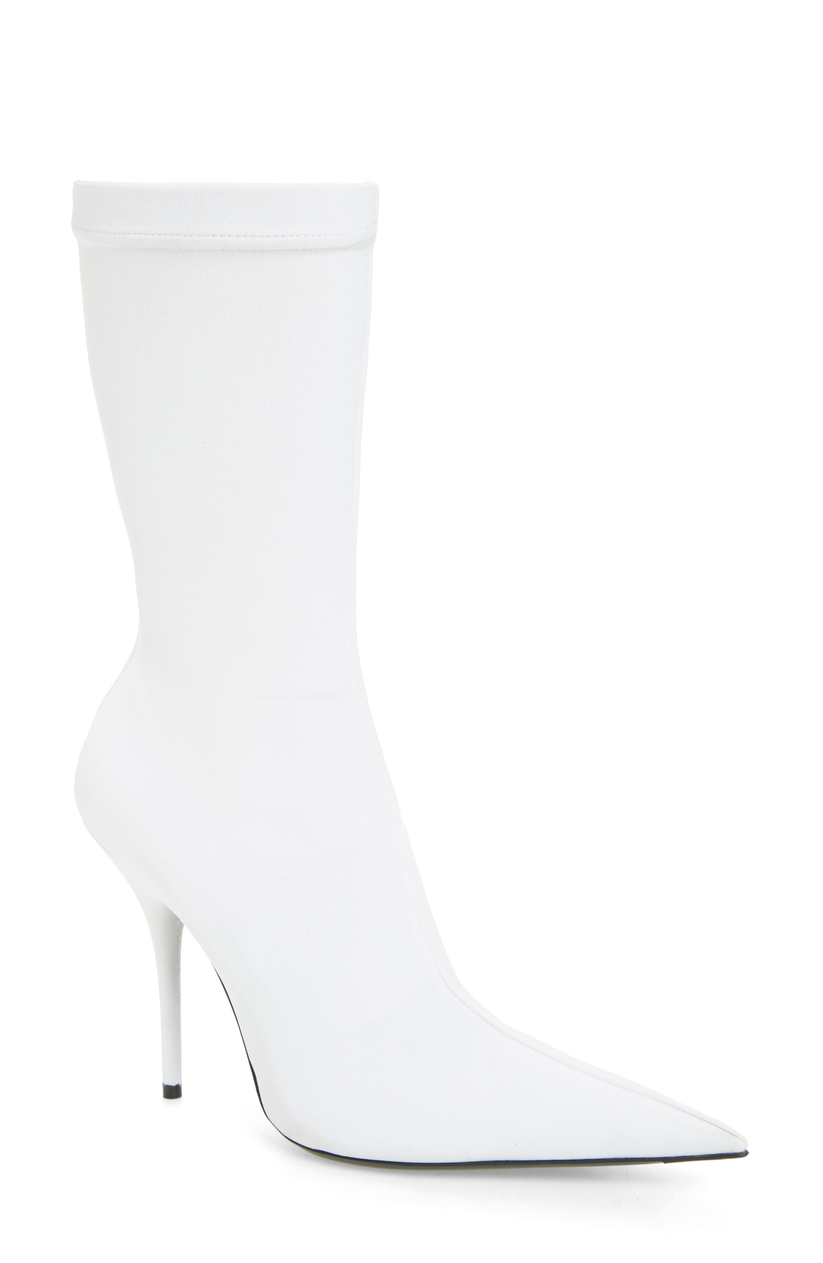 Pointy Toe Mid Boot,                             Main thumbnail 1, color,                             WHITE