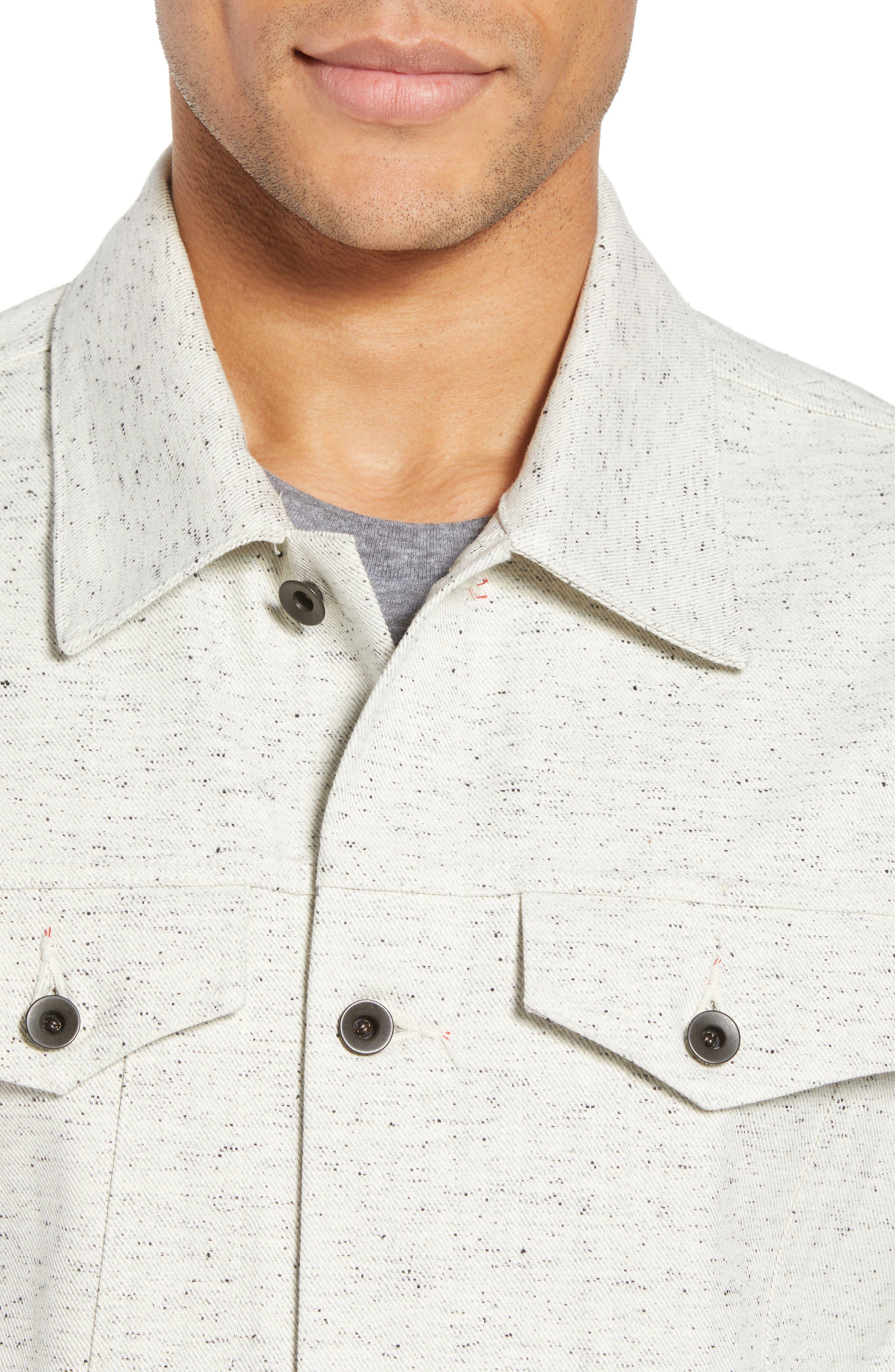 Natural Denim Jacket,                             Alternate thumbnail 4, color,                             123