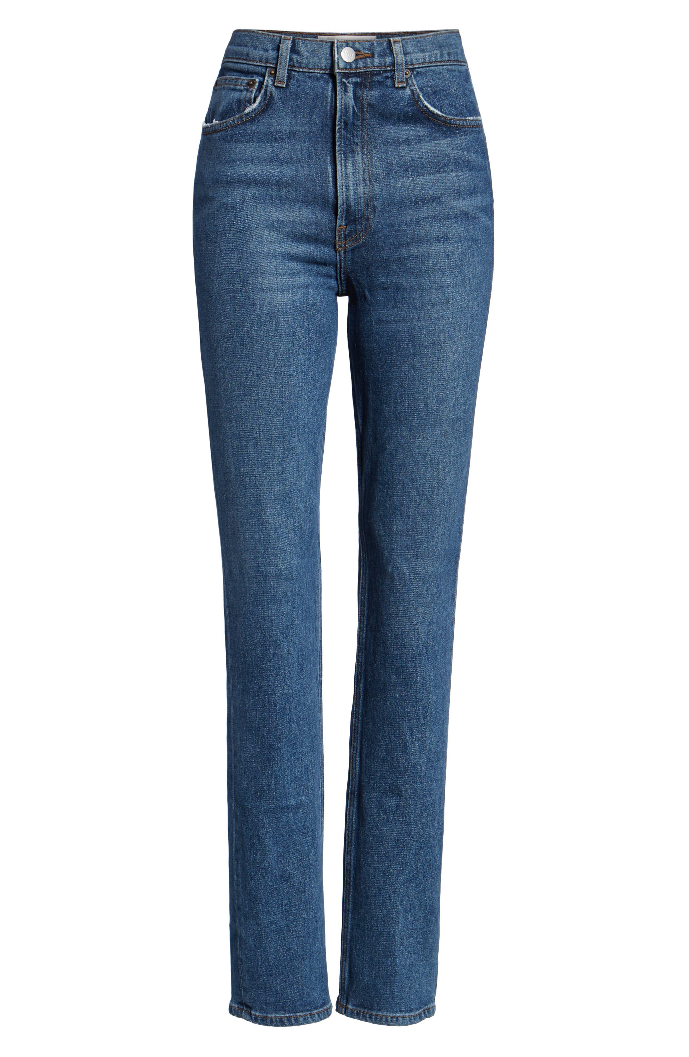 Liza High Waist Straight Leg Jeans,                             Alternate thumbnail 3, color,                             KASAI