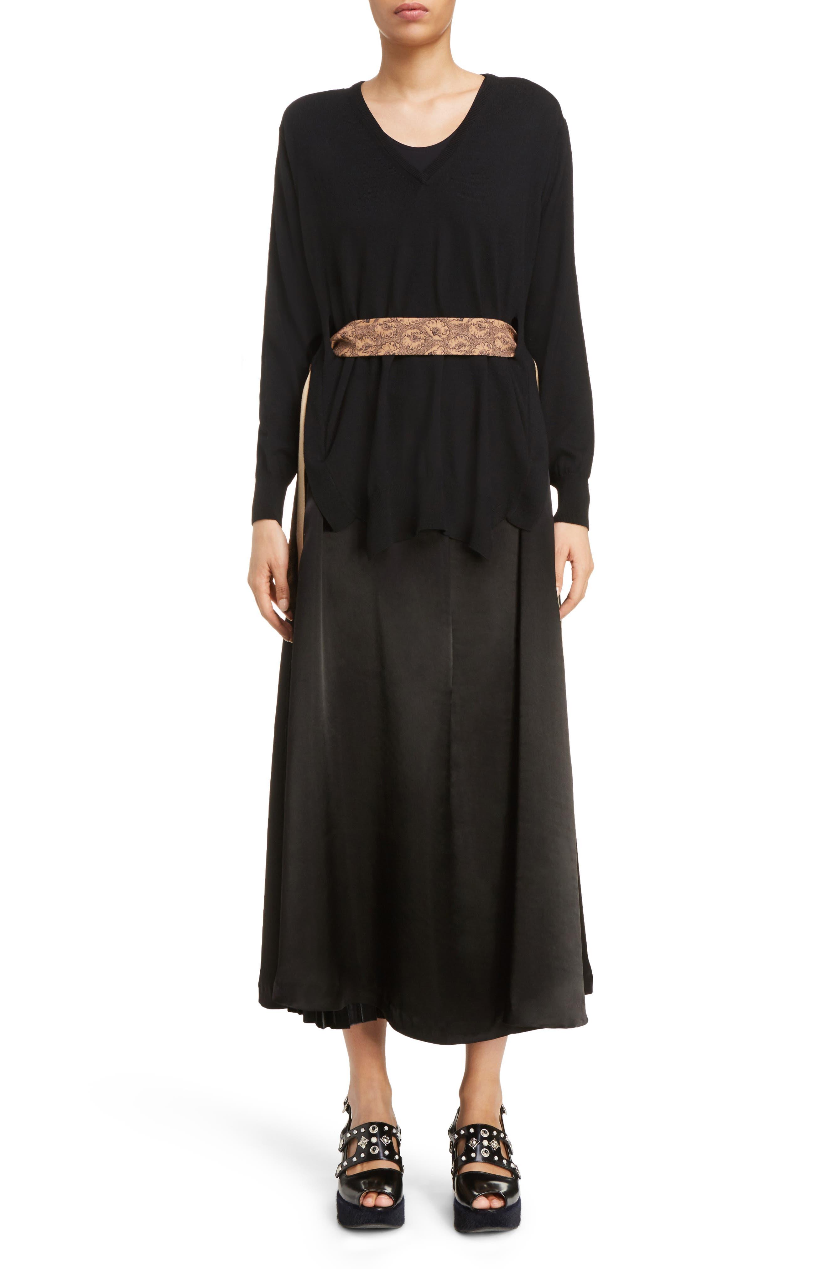 Velvet Skirt Tank Dress,                             Alternate thumbnail 5, color,                             001