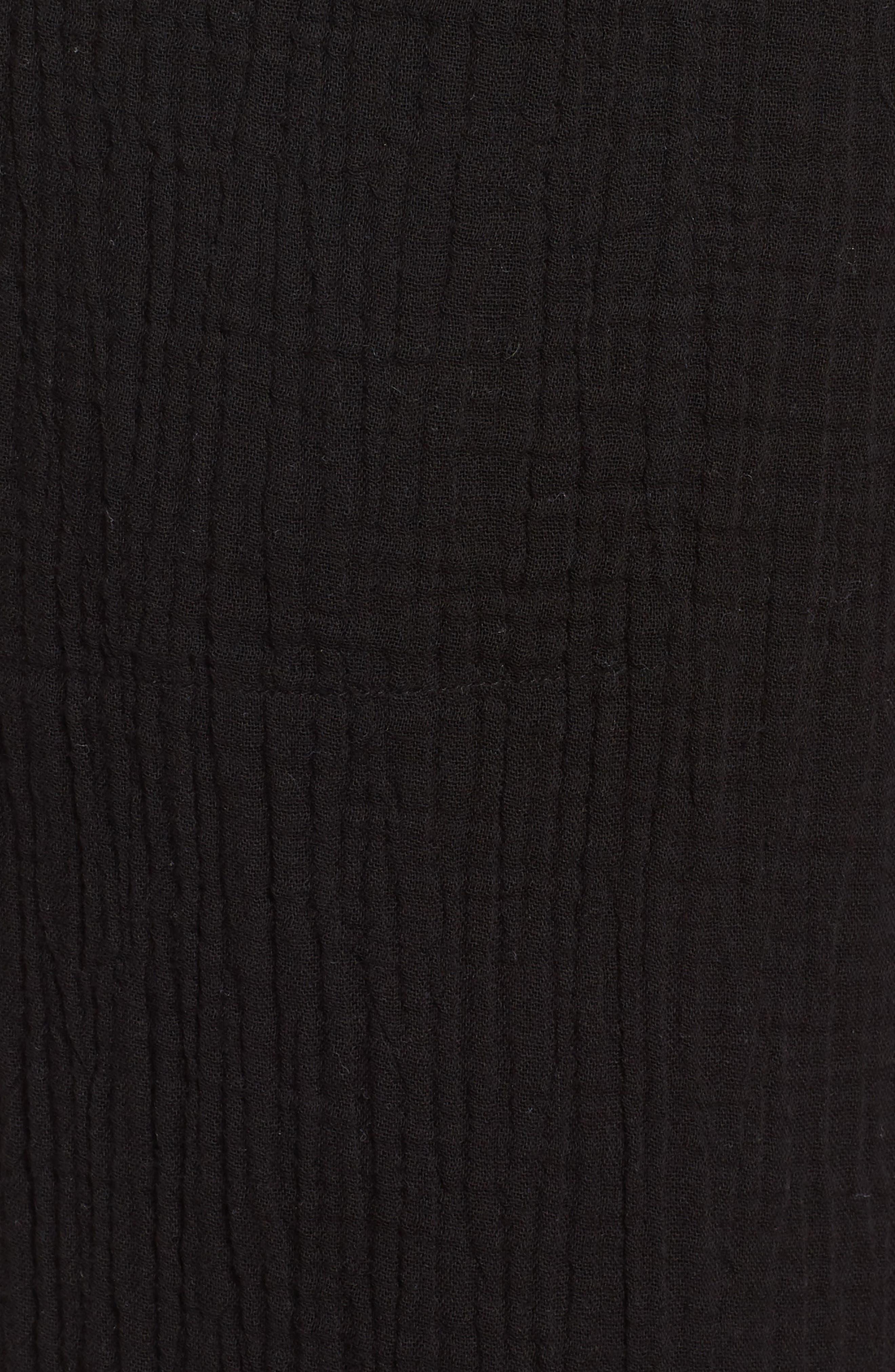 Organic Cotton Crop Pants,                             Alternate thumbnail 6, color,                             001