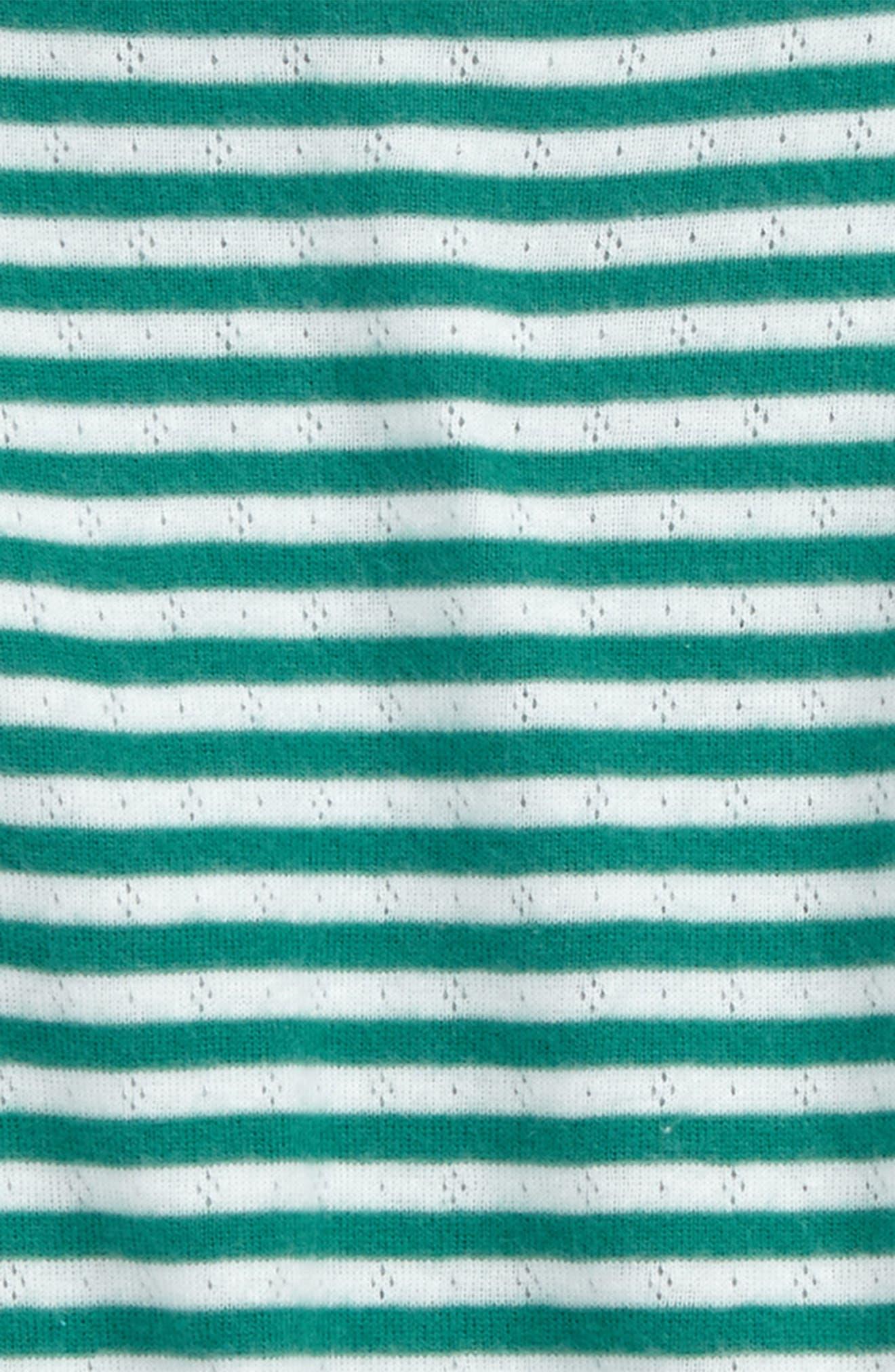 Soft Stripe Pointelle Tee,                             Alternate thumbnail 2, color,                             315