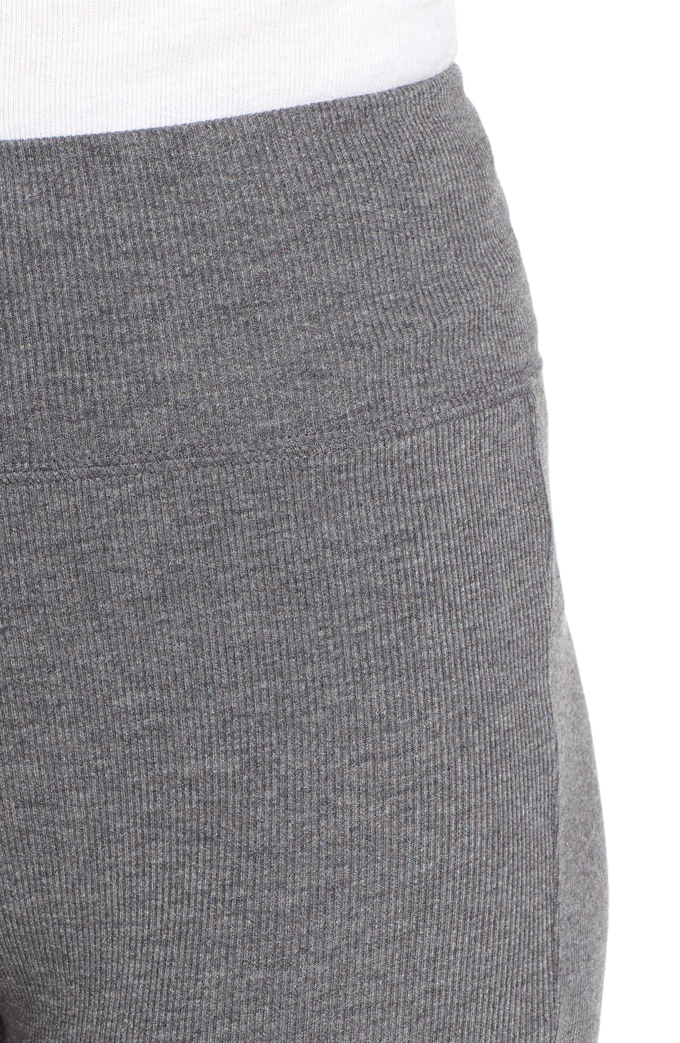 Rib Knit Leggings,                             Alternate thumbnail 6, color,                             GREY CLOUDY HEATHER