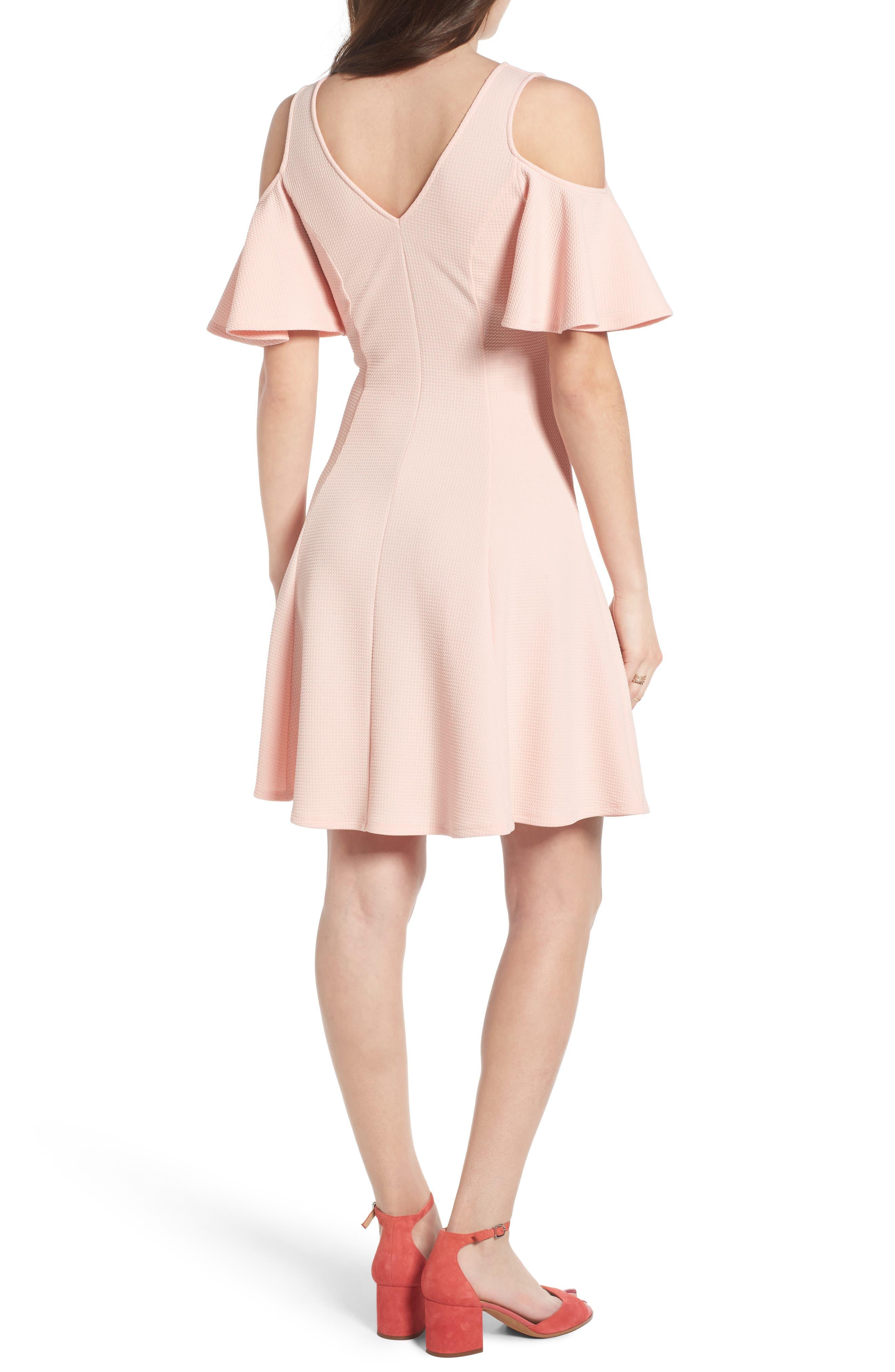 Cold Shoulder Dress,                             Alternate thumbnail 2, color,                             650
