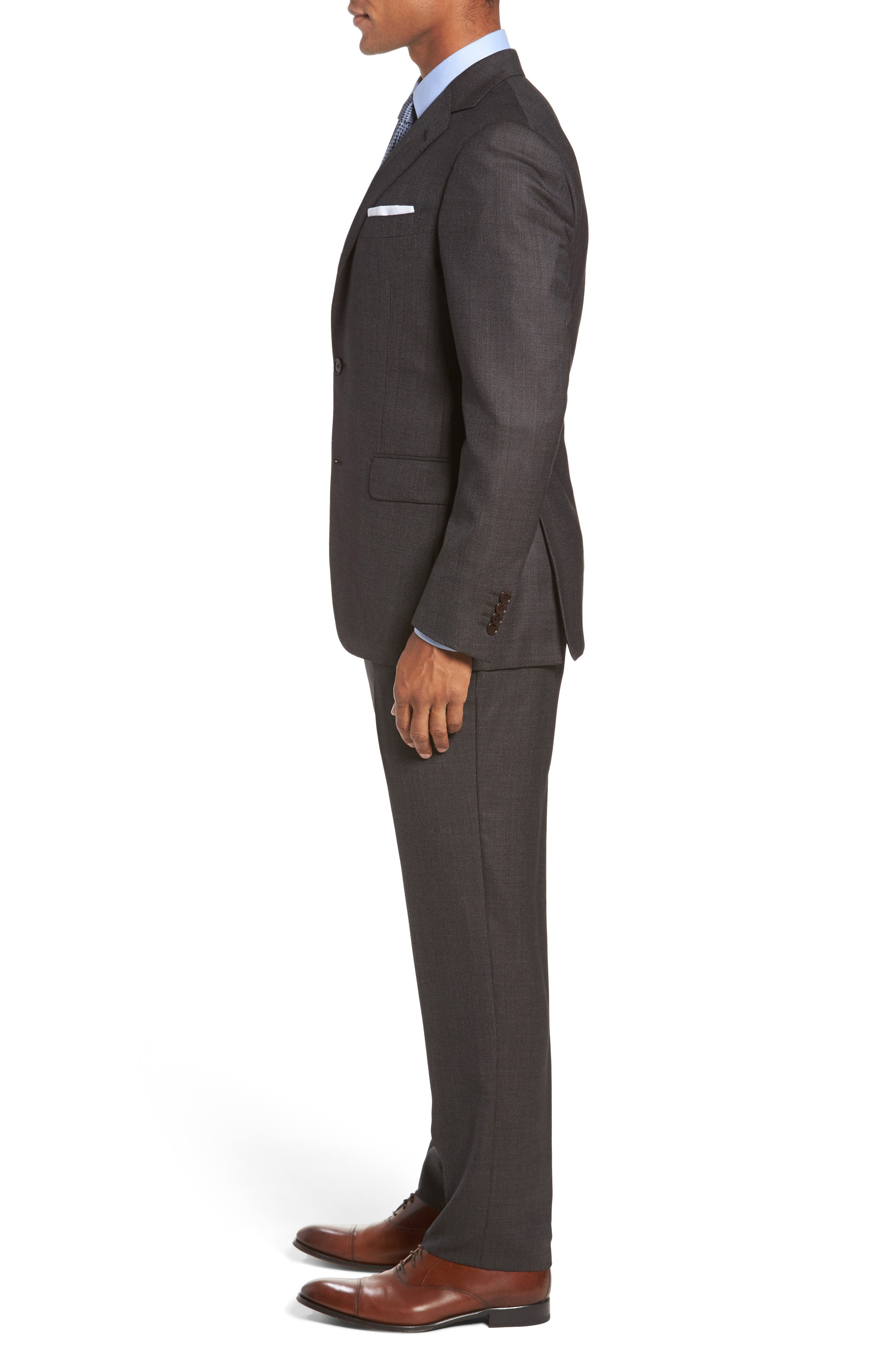 Classic Fit Micro Weave Wool Suit,                             Alternate thumbnail 3, color,                             200