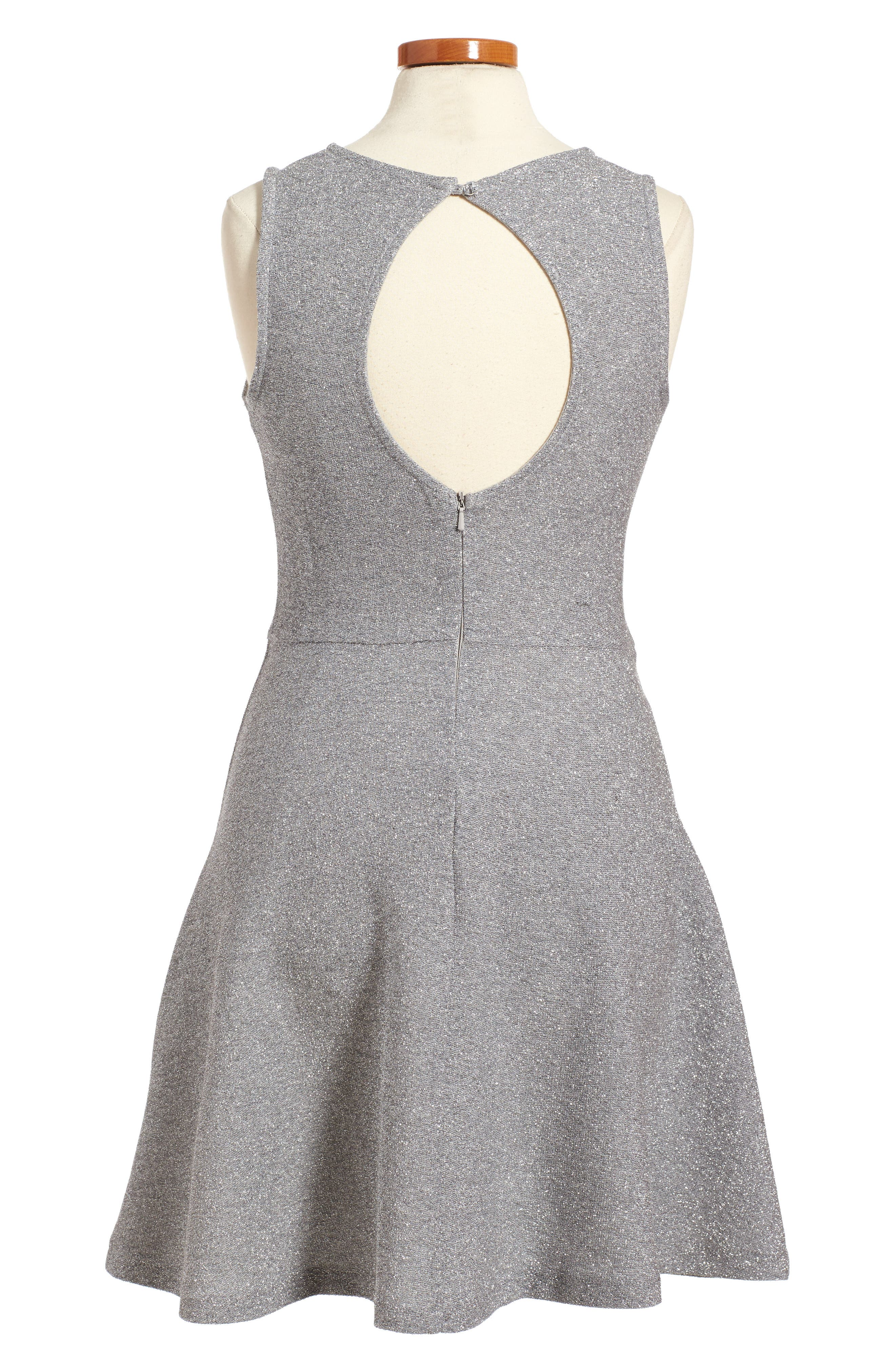 Sparkle Skater Dress,                             Alternate thumbnail 2, color,