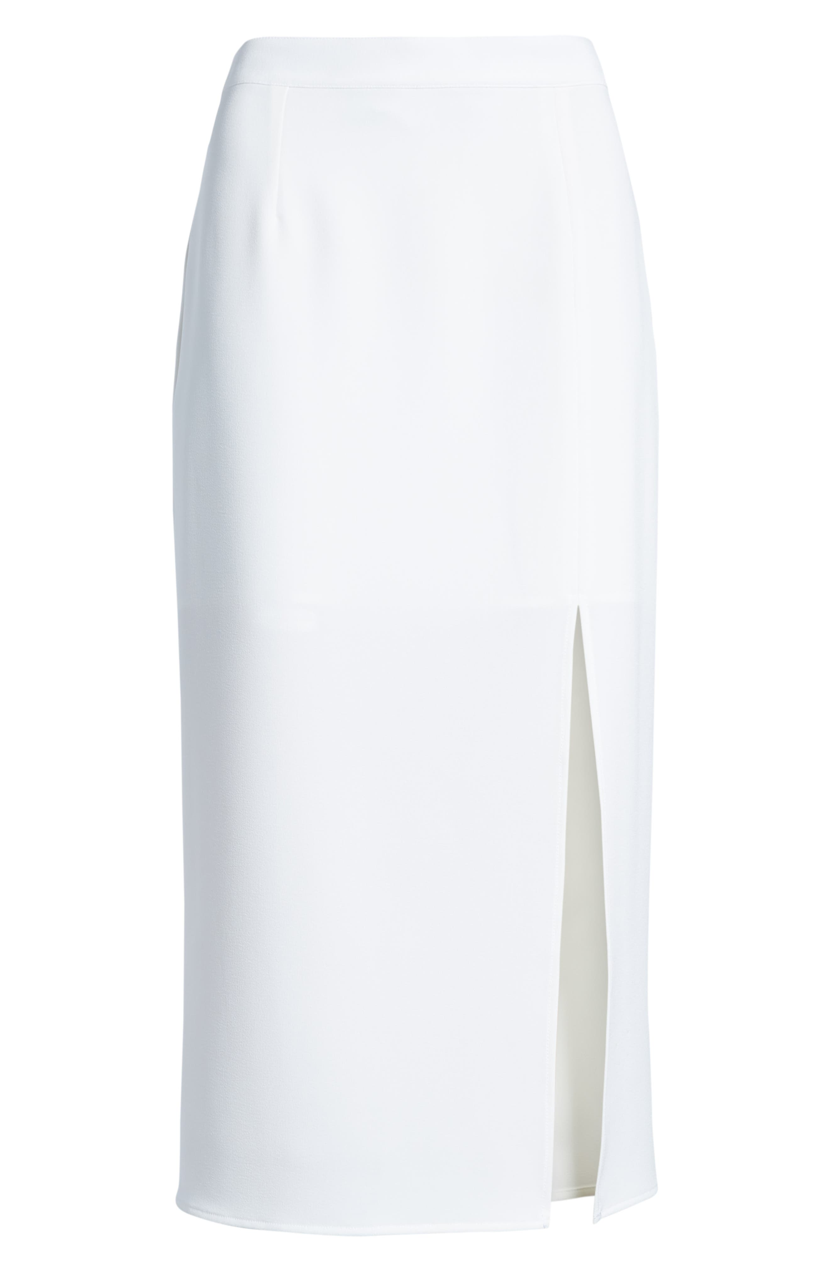 Brady Satin Midi Skirt,                             Alternate thumbnail 6, color,                             IVORY