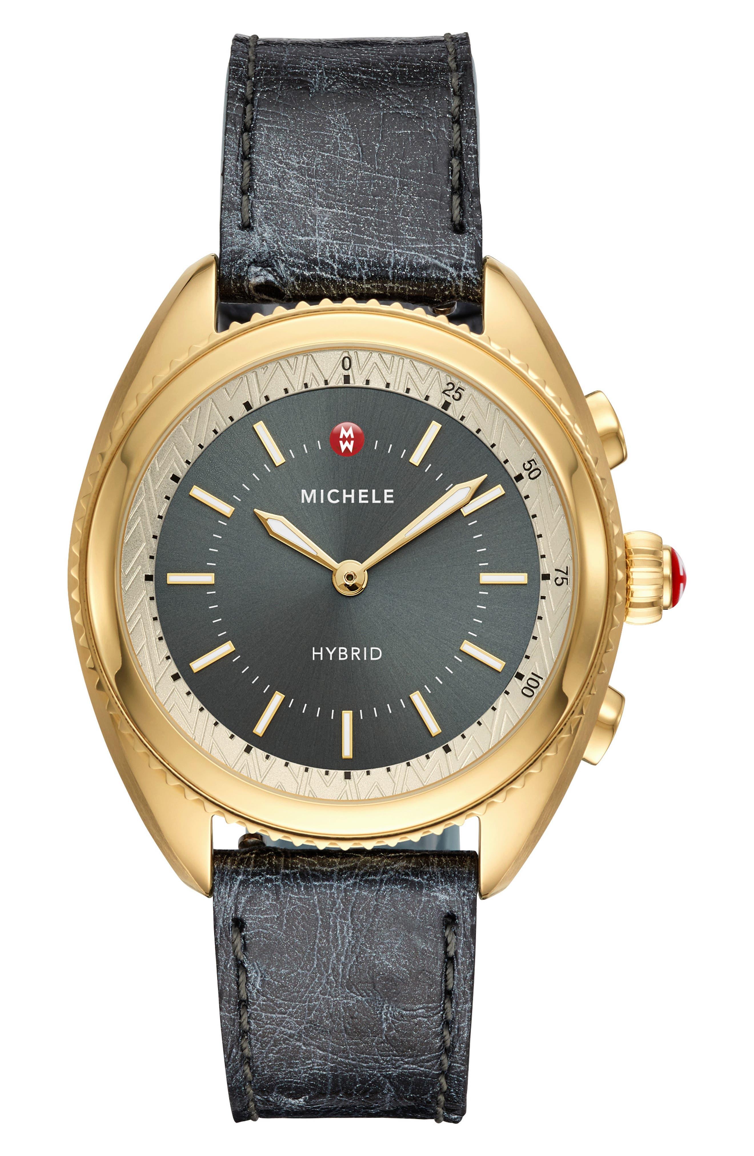 Hybrid Tracker Watch, 38mm,                         Main,                         color, BLUE/ GREY/ GOLD