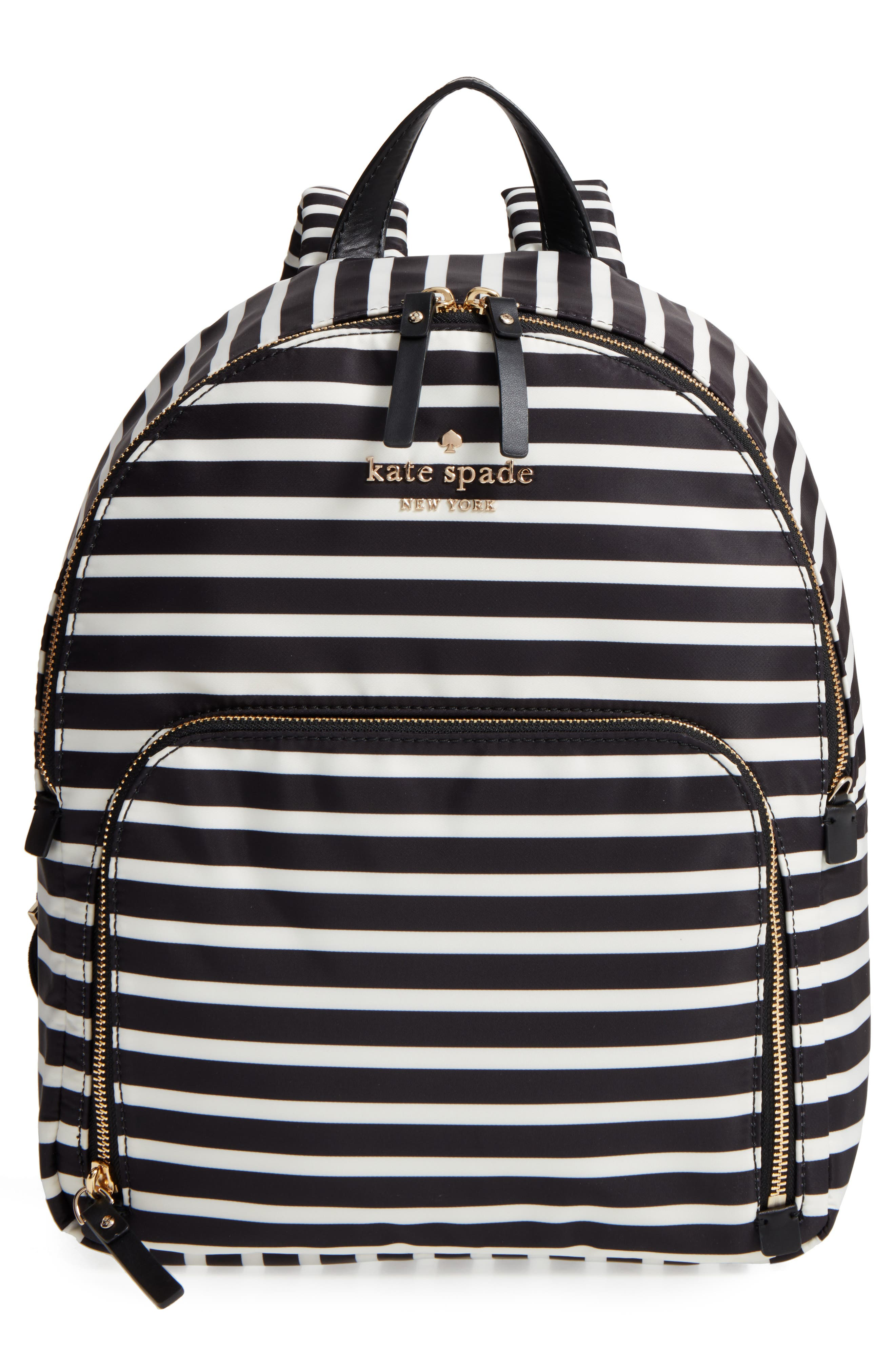 watson lane - hartley nylon backpack,                         Main,                         color, BLACK/ CLOTTED CREAM
