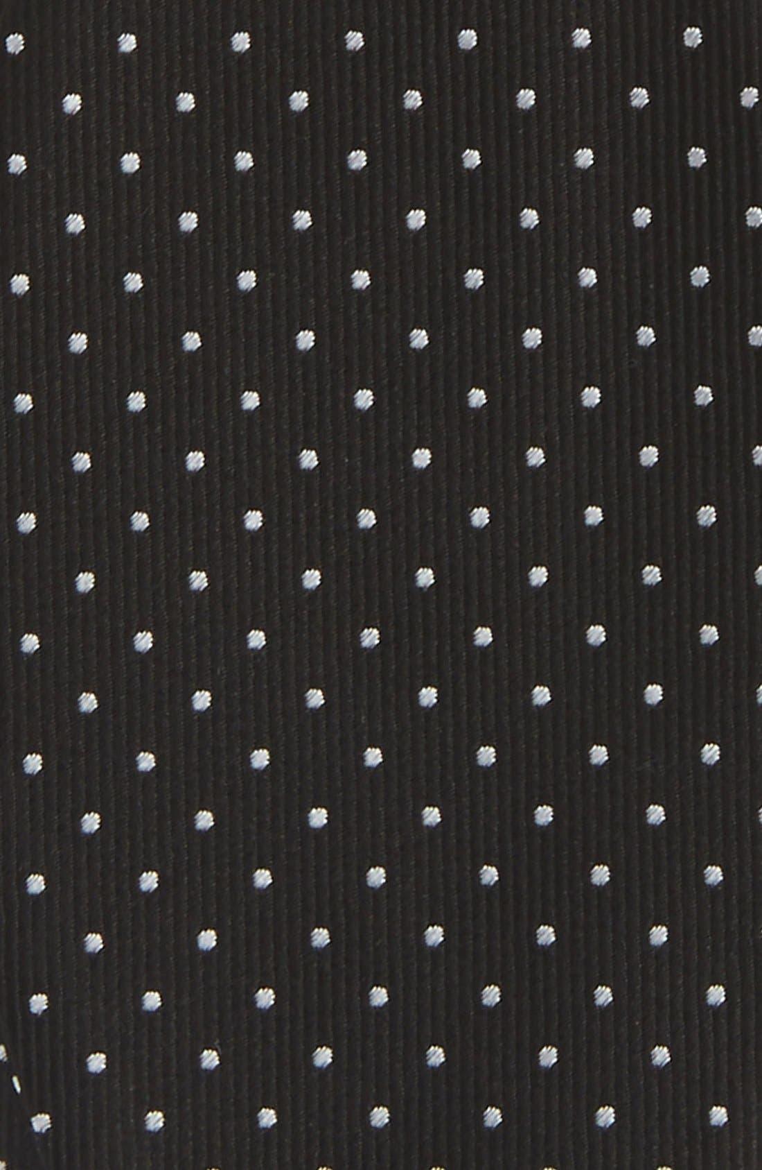 Dot Silk Bow Tie,                             Alternate thumbnail 3, color,                             001
