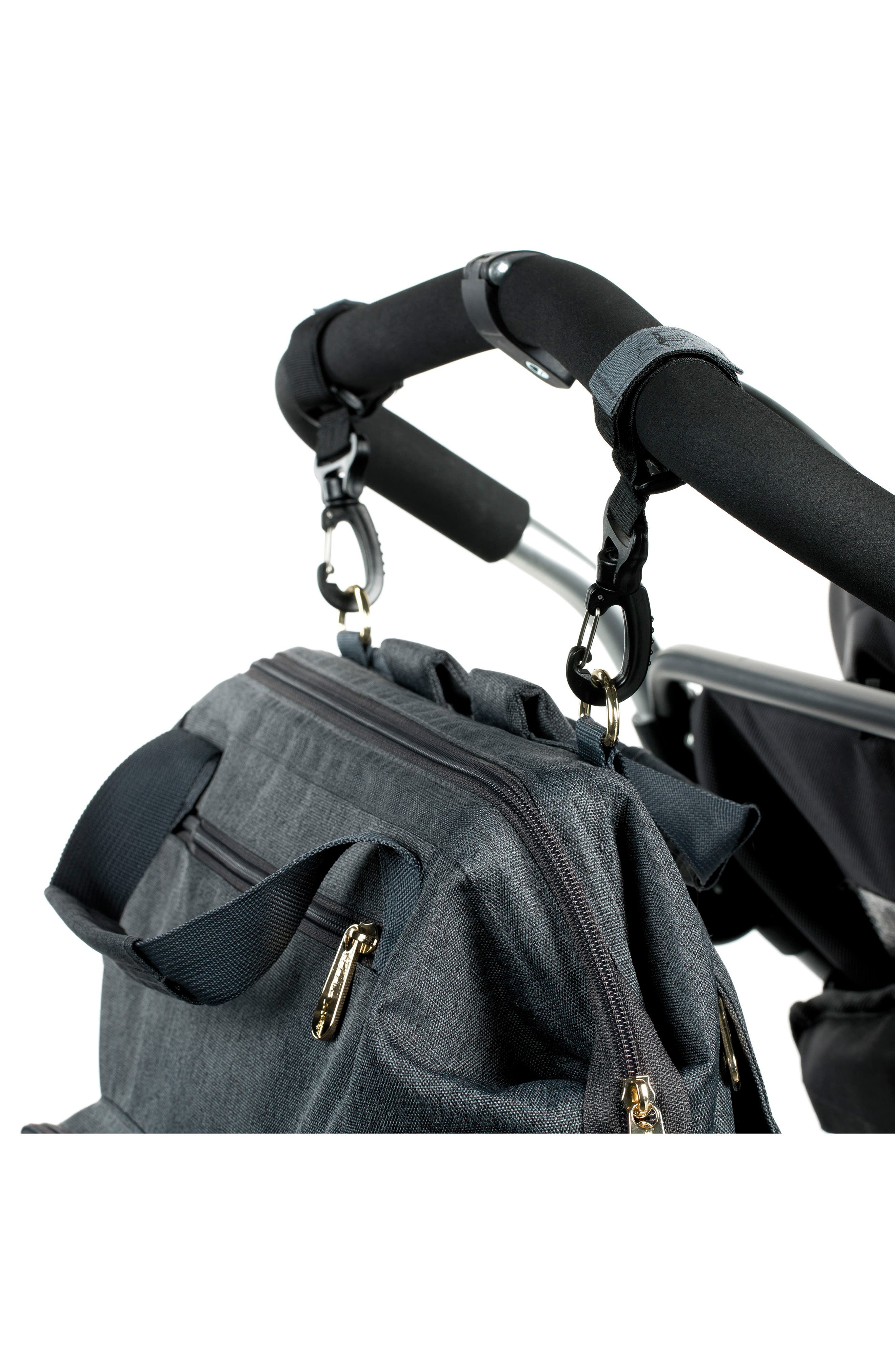 Glam Goldie Diaper Backpack,                             Alternate thumbnail 10, color,                             ANTHRACITE