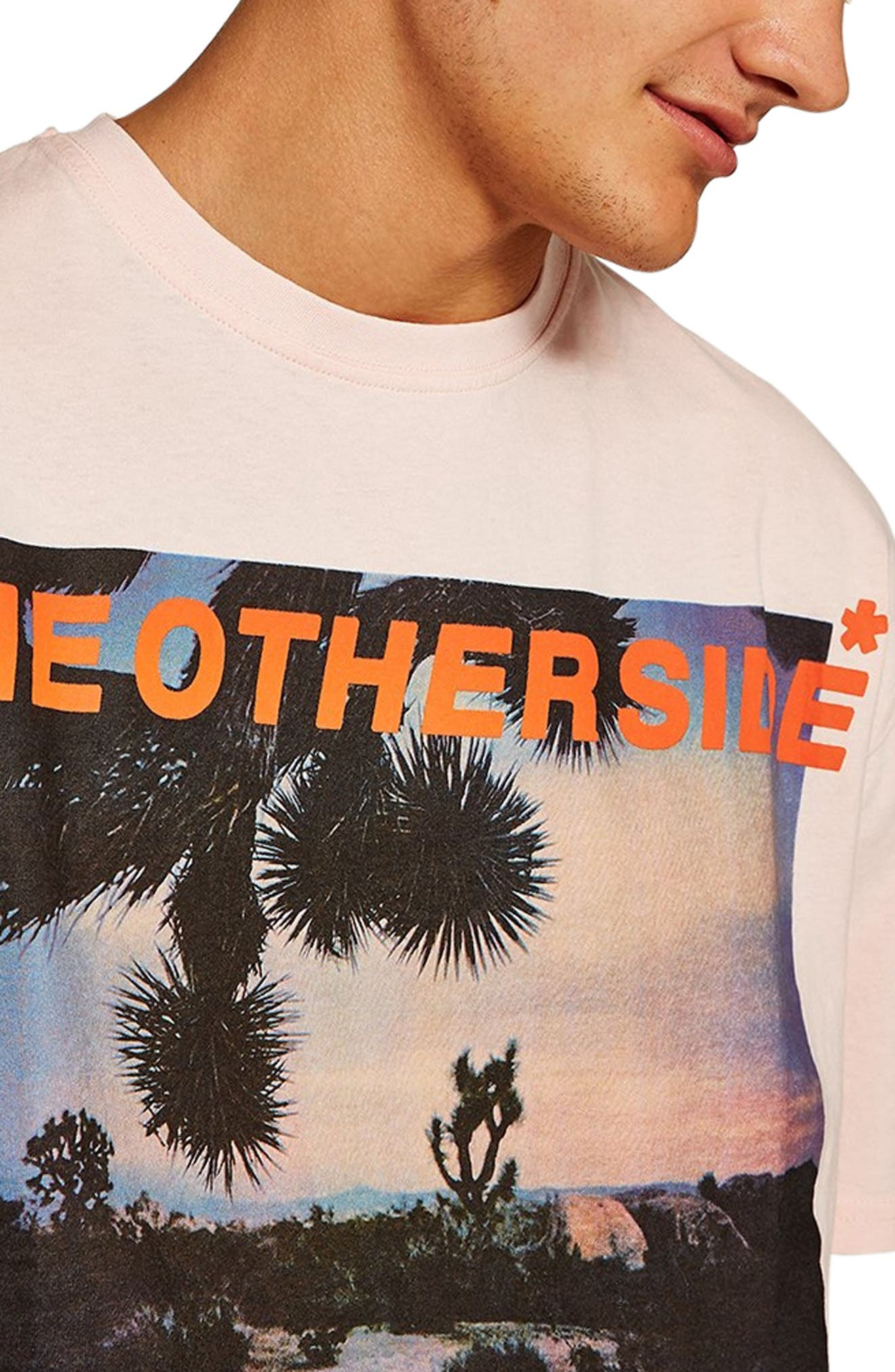 Oversize Other Side Graphic T-Shirt,                             Alternate thumbnail 3, color,                             650