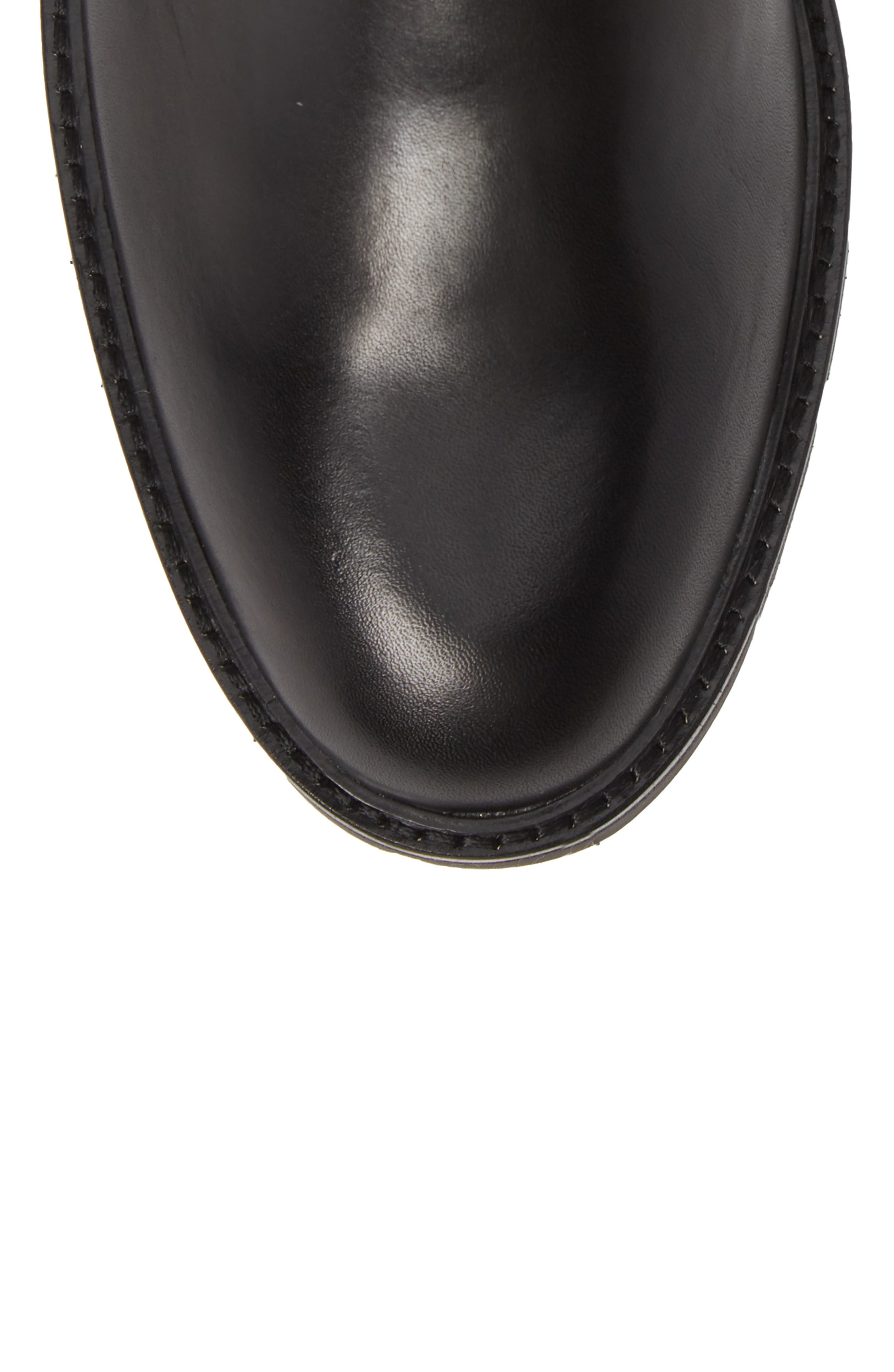 Upton Chelsea Buckle Boot,                             Alternate thumbnail 5, color,                             BLACK LEATHER
