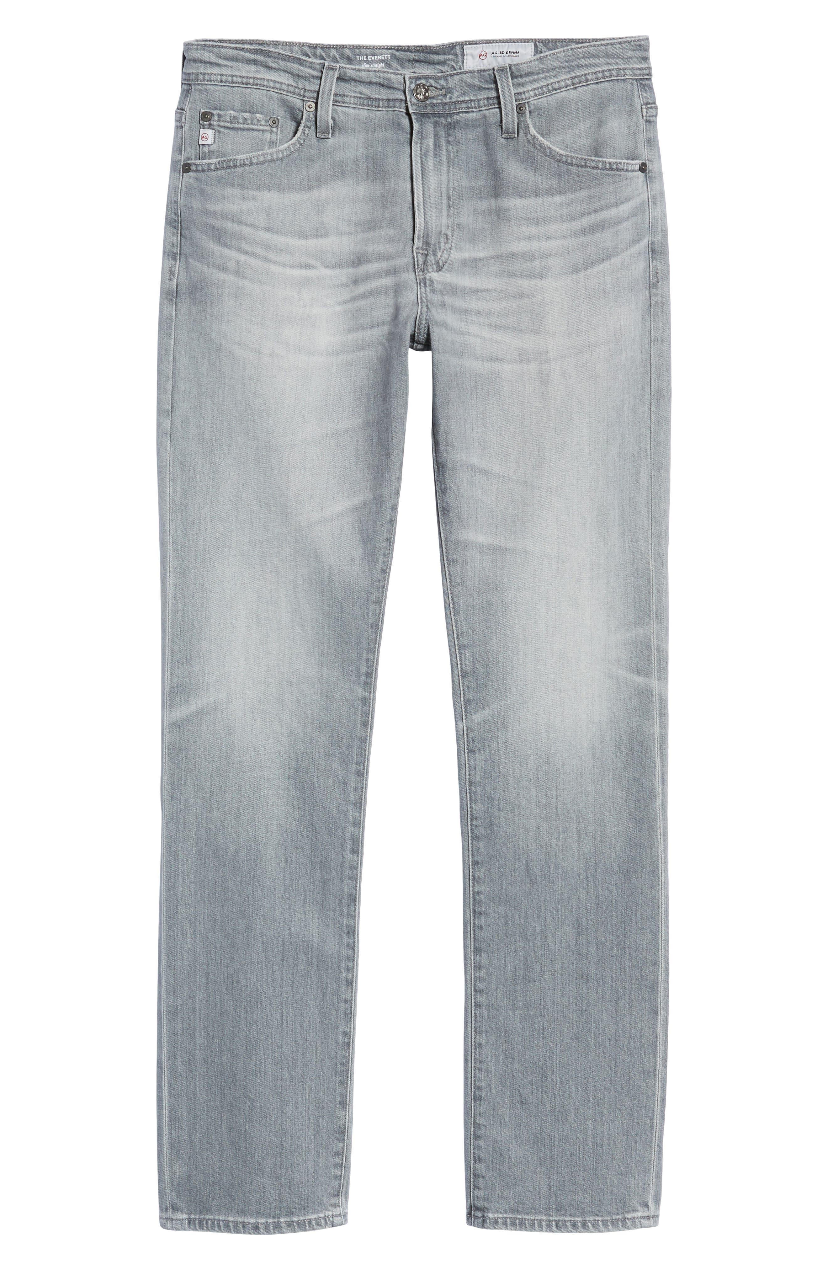 Everett Slim Straight Fit Jeans,                             Alternate thumbnail 6, color,