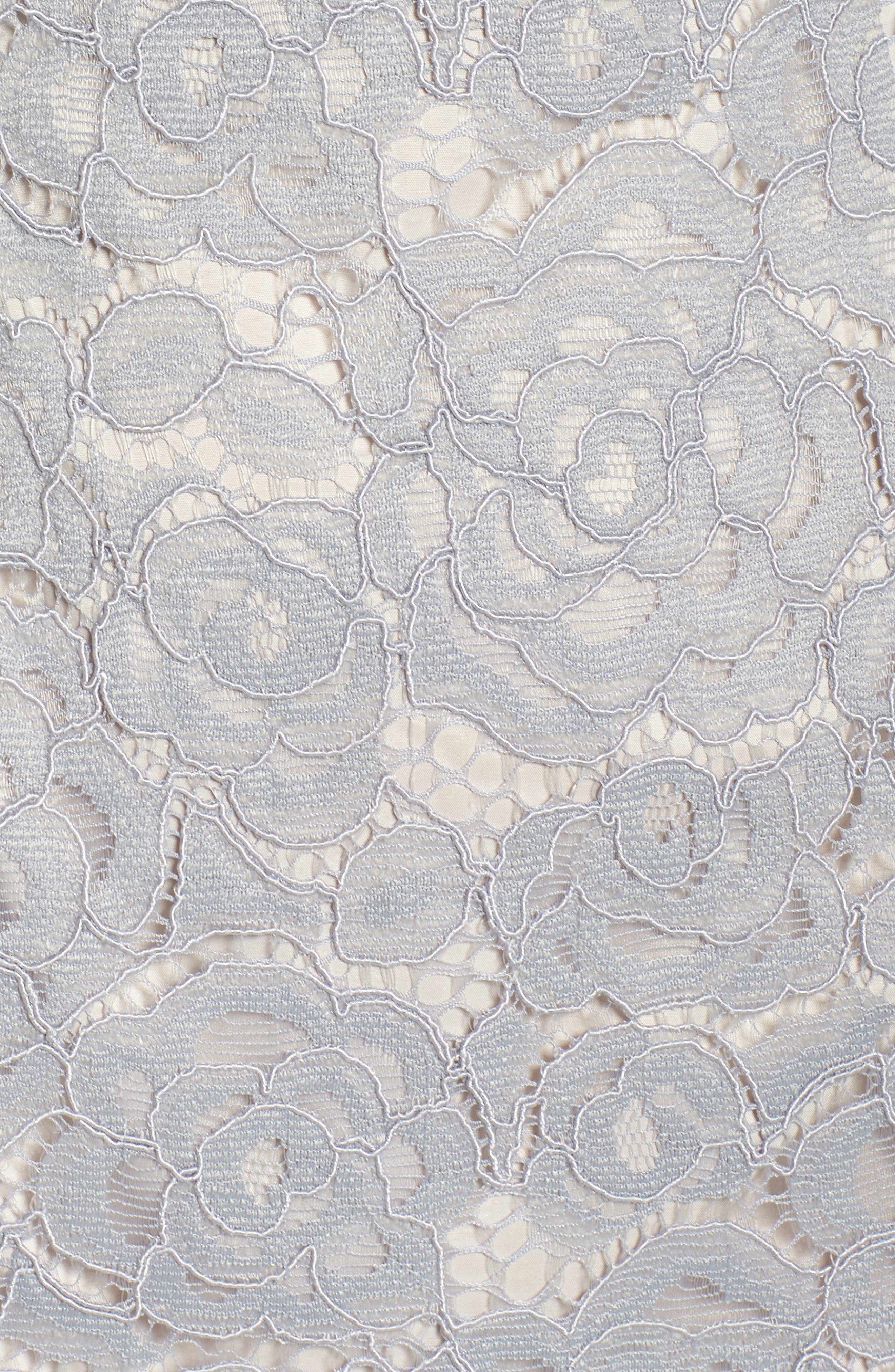 Off the Shoulder Lace Sheath Dress,                             Alternate thumbnail 36, color,