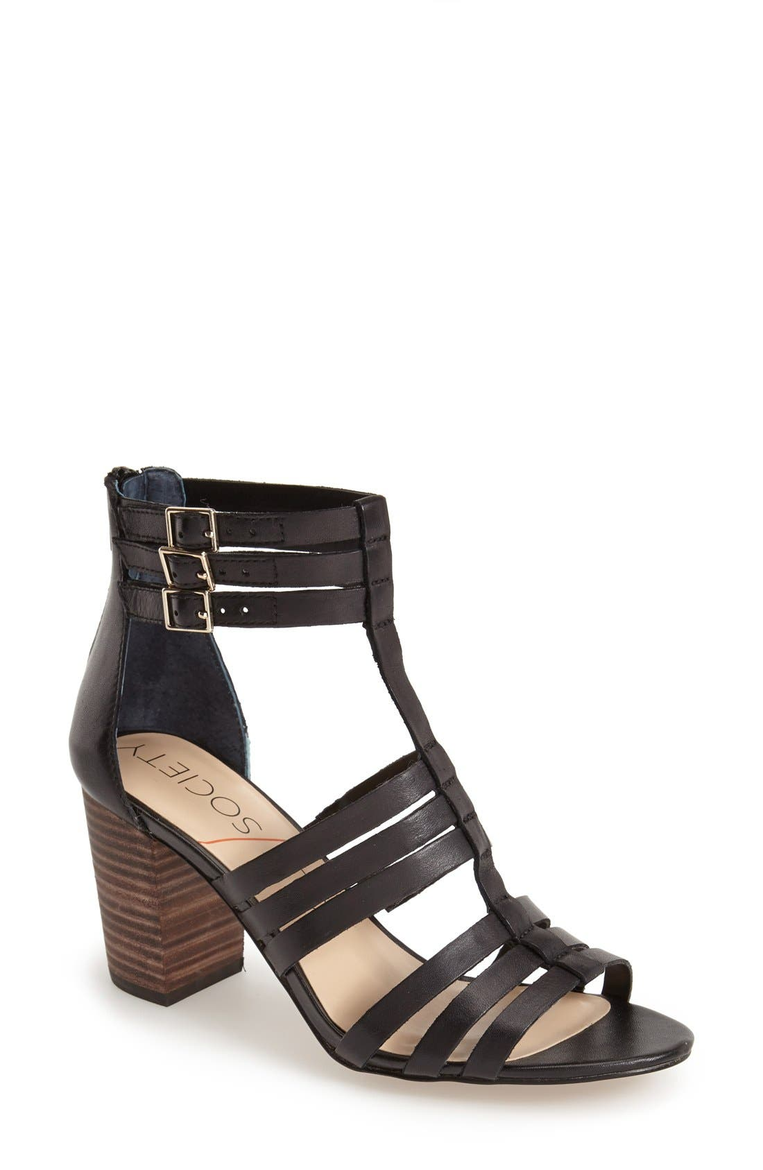 'Elise' Gladiator Sandal,                         Main,                         color, 001