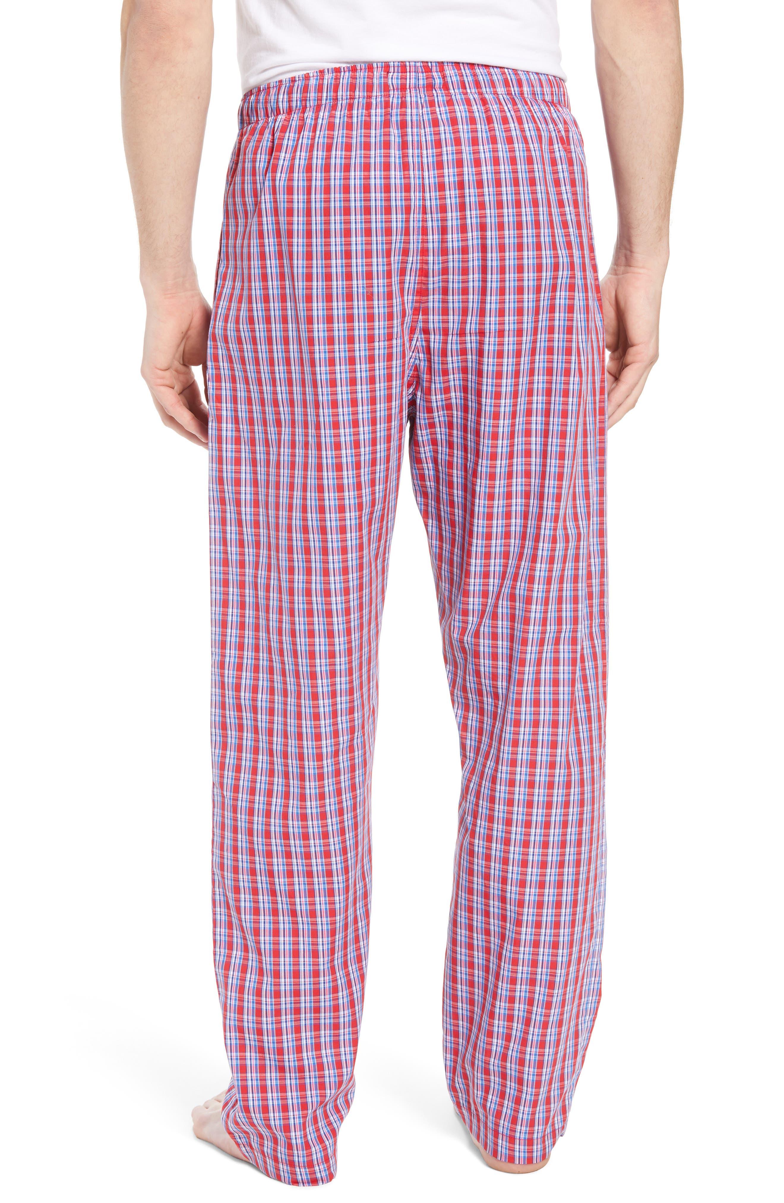 Cotton Lounge Pants,                             Alternate thumbnail 2, color,                             NEWPORT PLAID/ NAVY