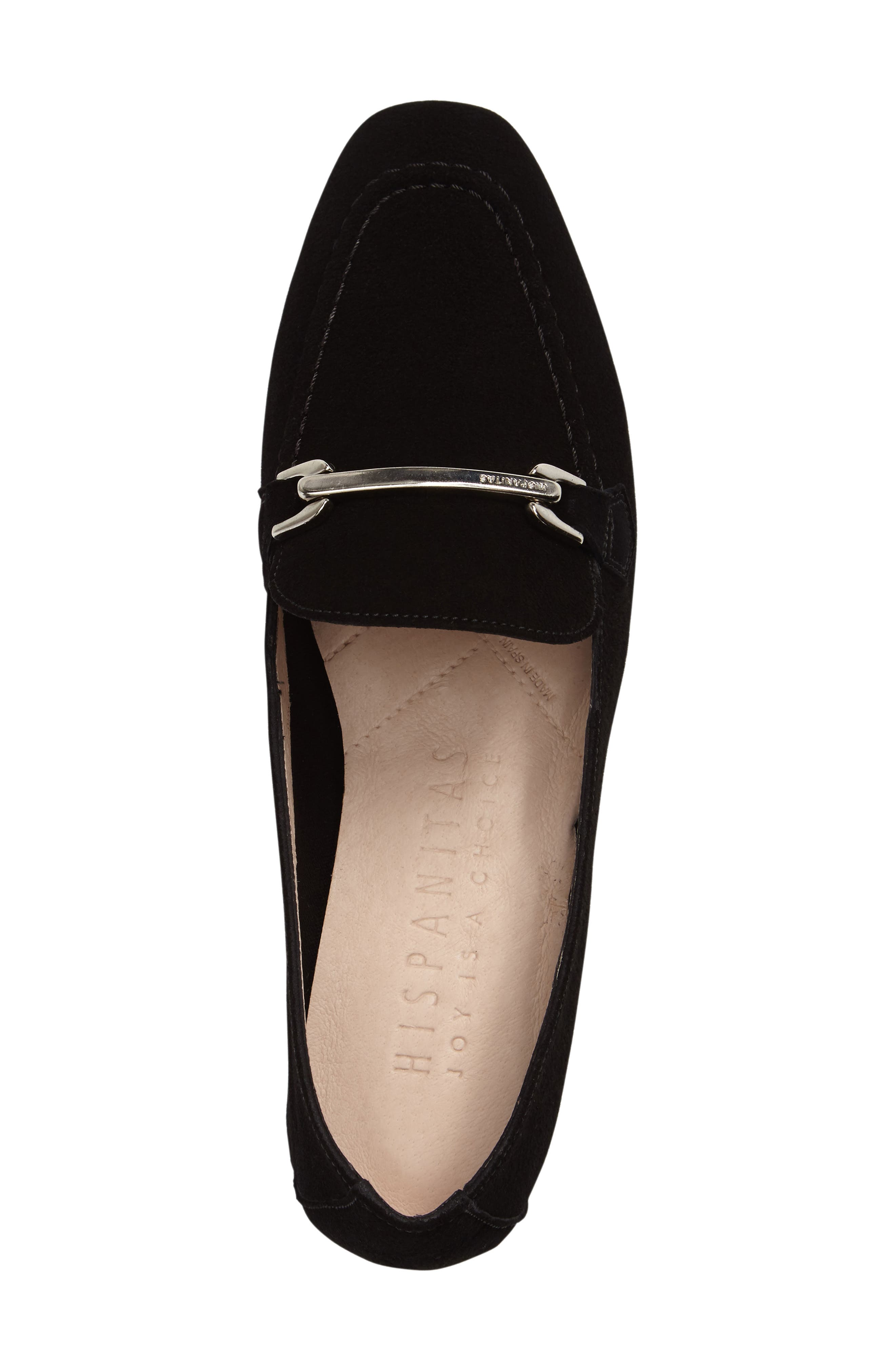 Evelyn Loafer,                             Alternate thumbnail 5, color,                             BLACK FABRIC