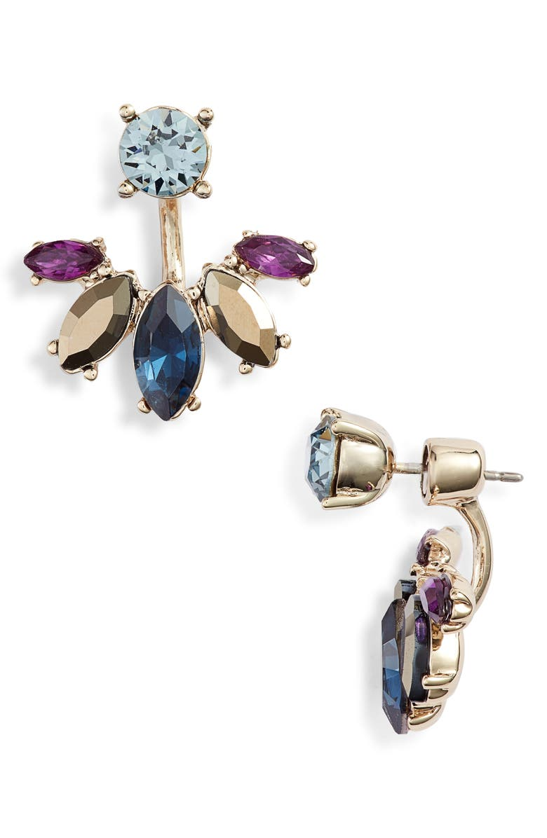 Marchesa STONE DROP-BACK EARRINGS