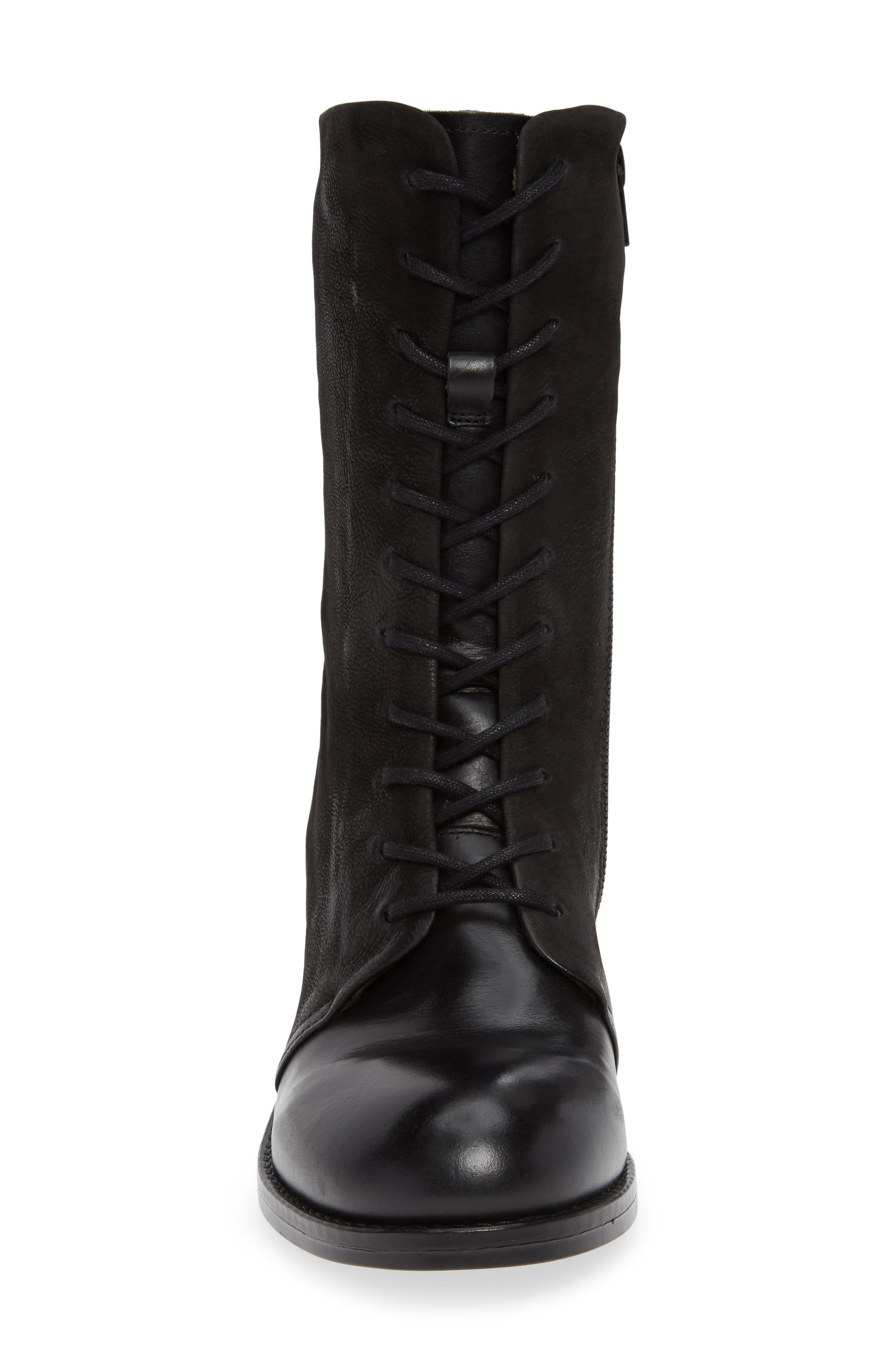 Zeko Lace-Up Boot,                             Alternate thumbnail 4, color,                             BLACK