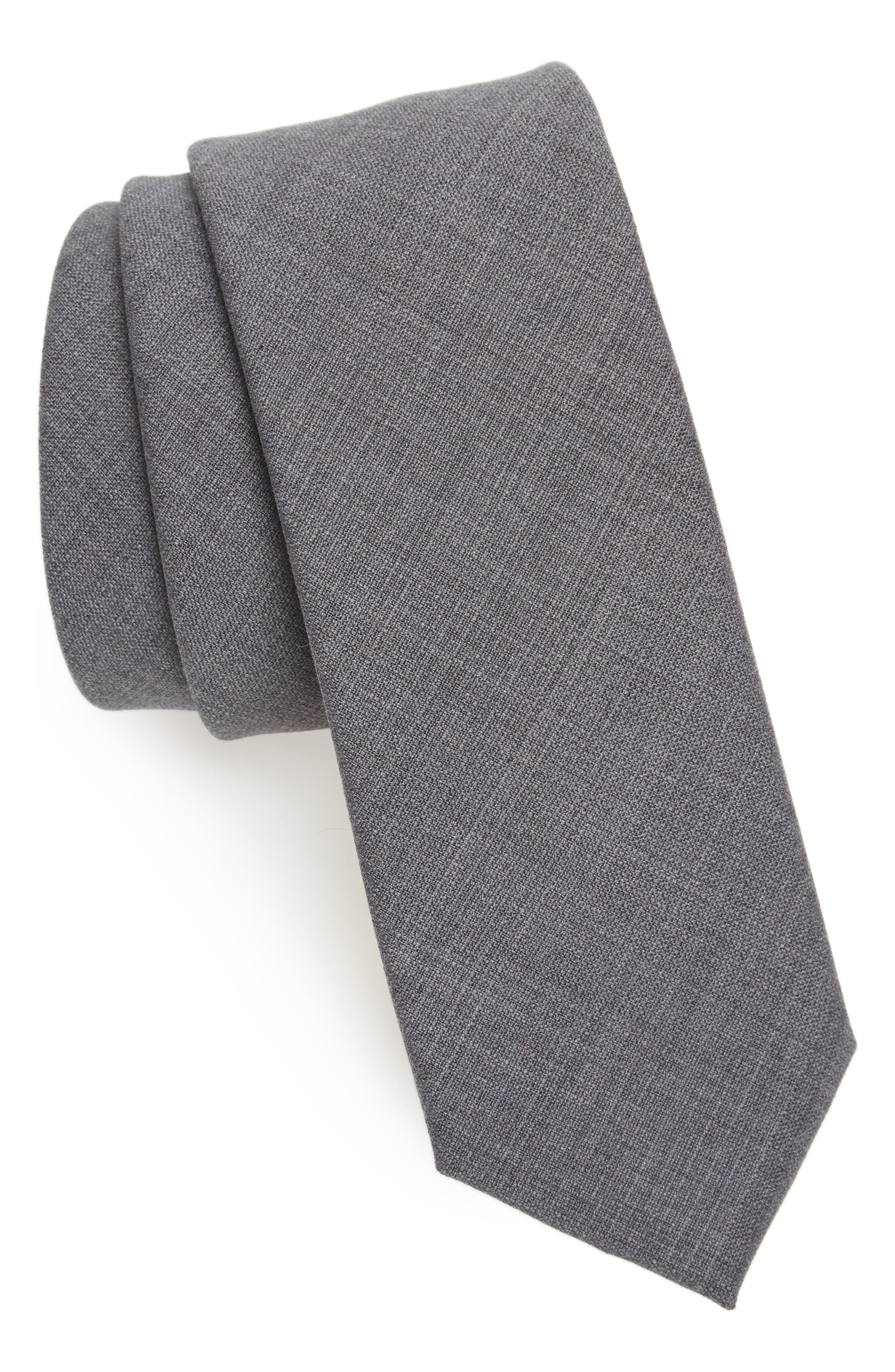 Solid Wool Skinny Tie,                             Main thumbnail 1, color,