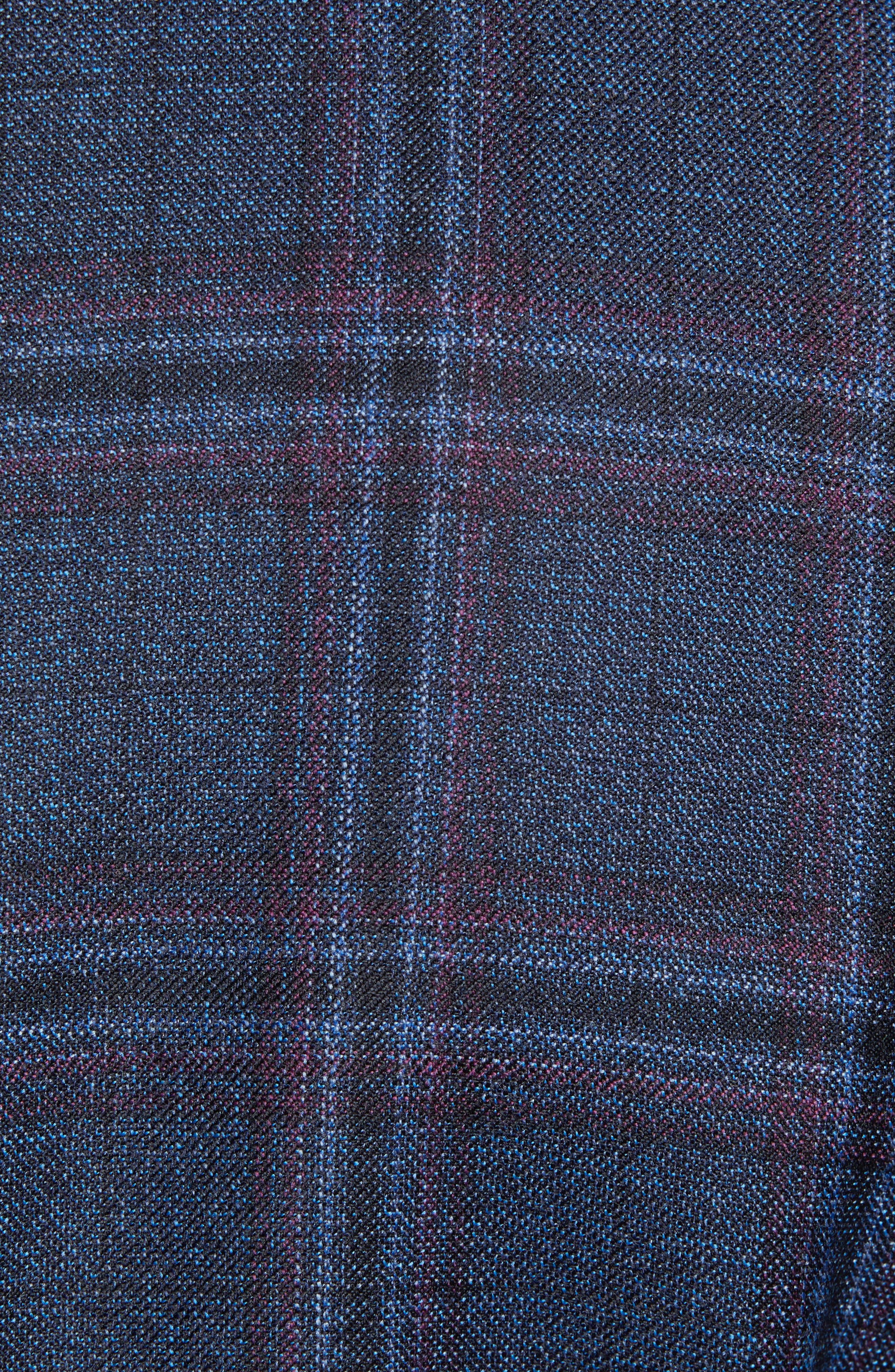 Connor Classic Fit Plaid Wool Sport Coat,                             Alternate thumbnail 6, color,                             400