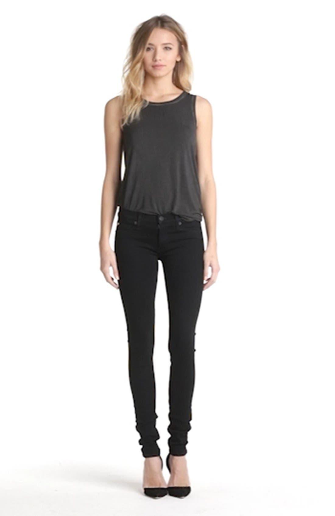 'Krista' Super Skinny Jeans,                             Alternate thumbnail 2, color,                             001