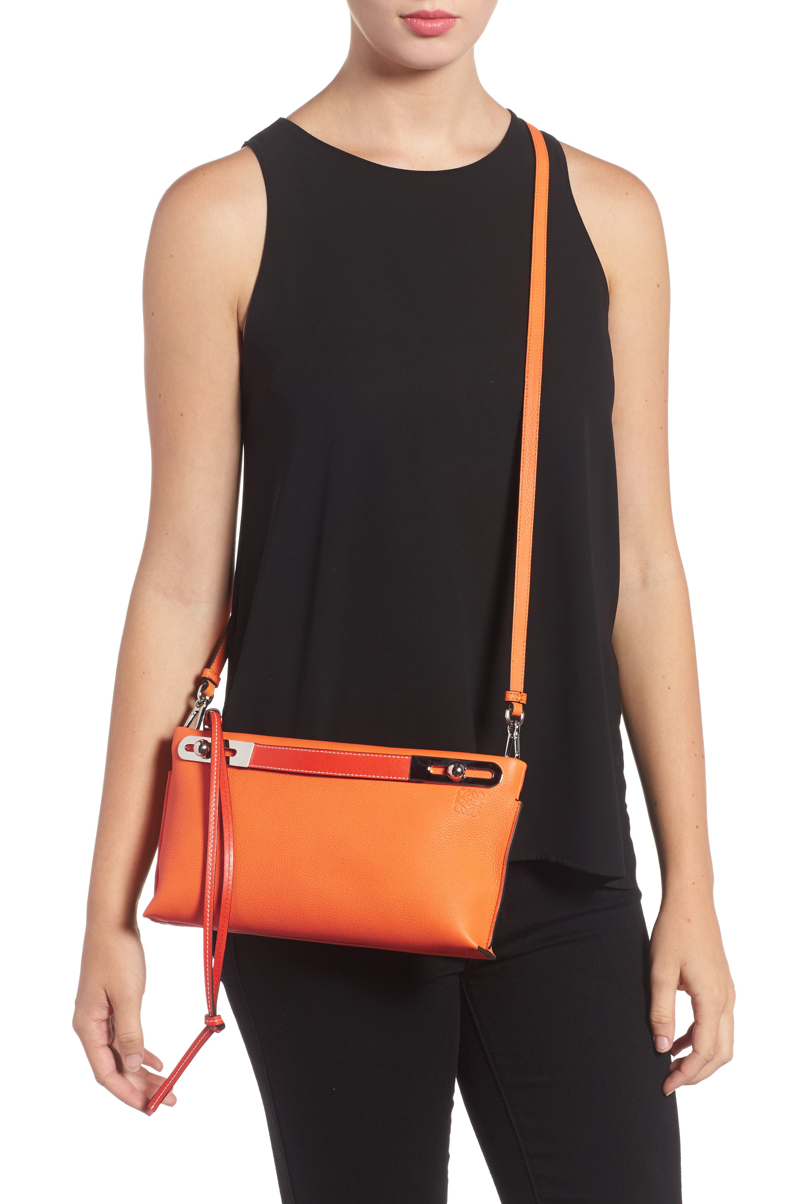 Small Missy Leather Crossbody Bag,                             Alternate thumbnail 3, color,