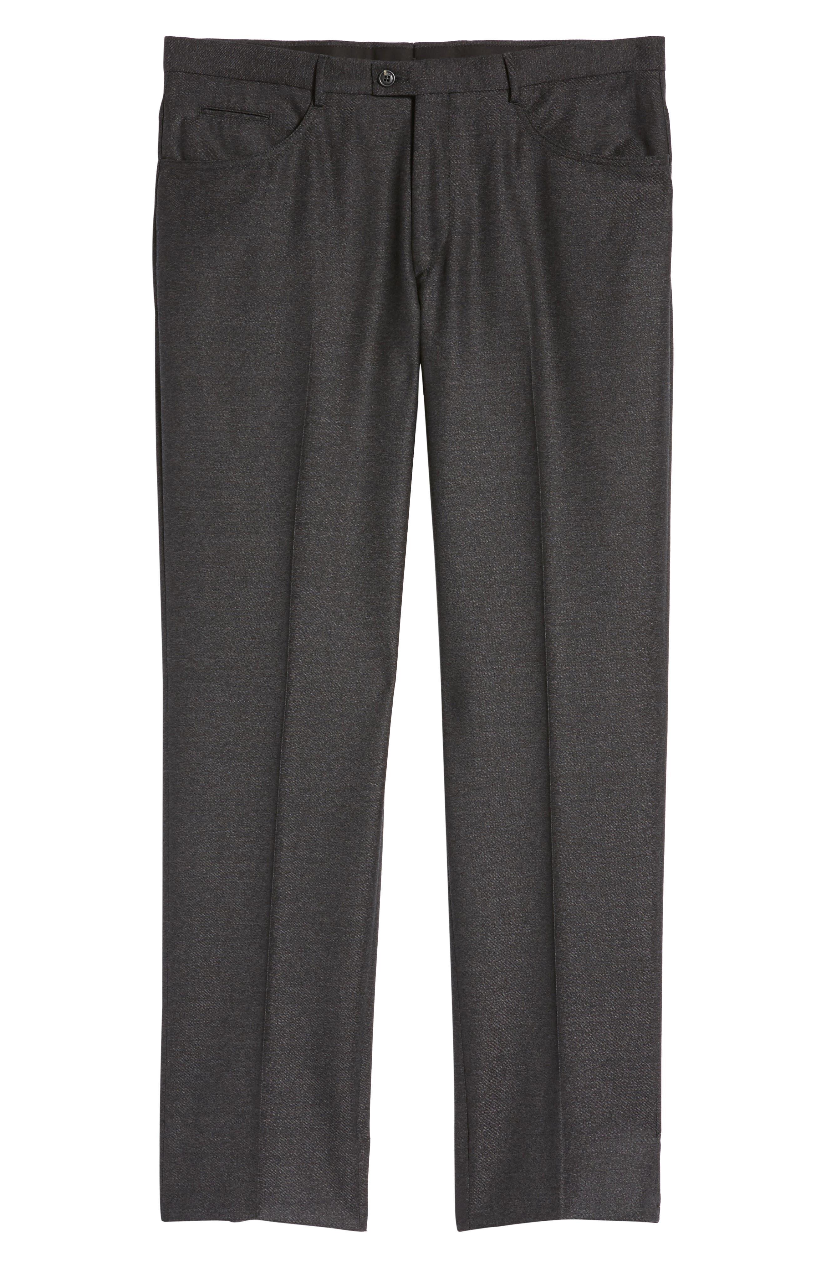 Sartorial Wool Five-Pocket Pants,                             Alternate thumbnail 6, color,                             001