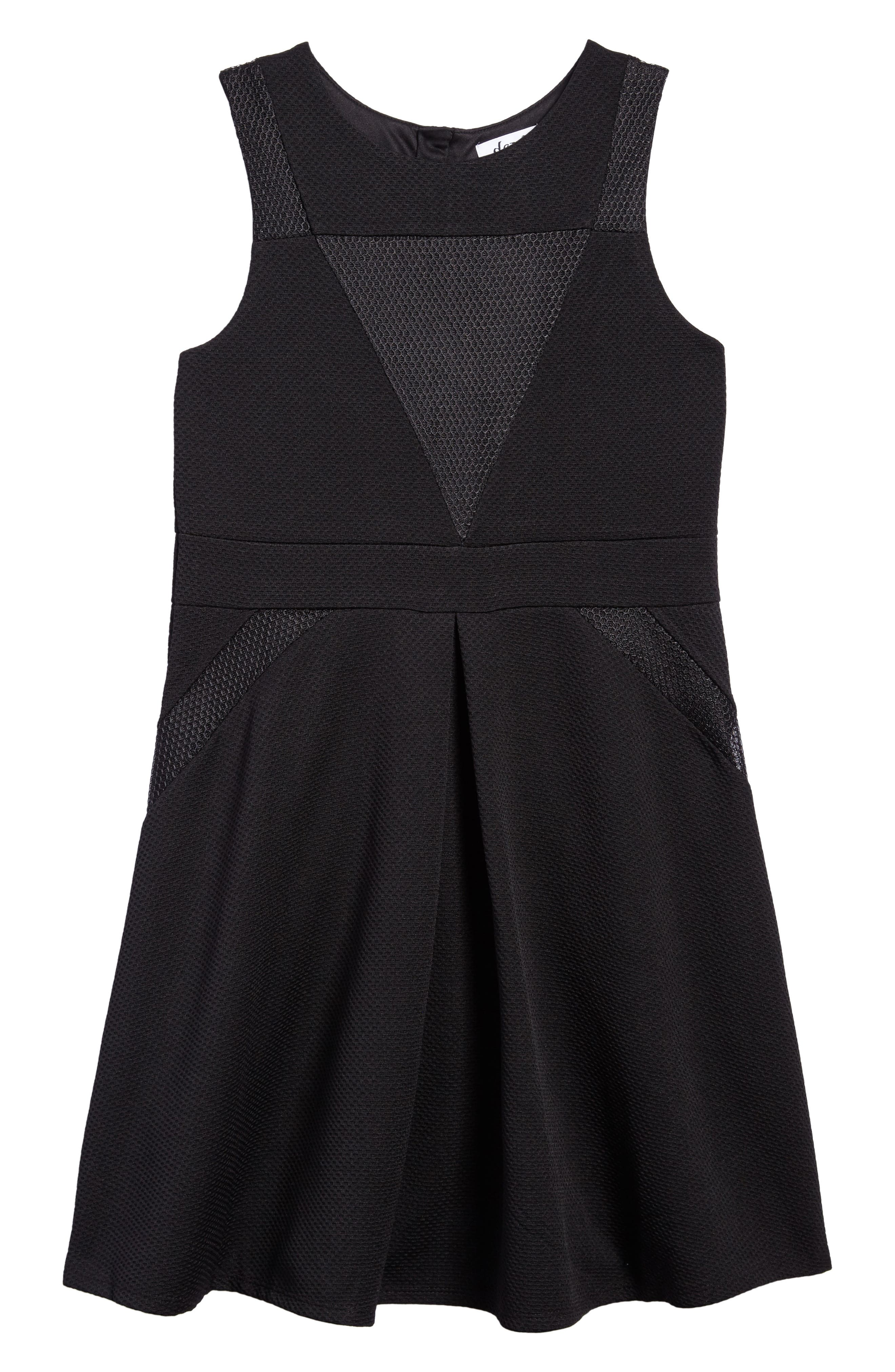 Mesh Skater Dress,                             Main thumbnail 1, color,