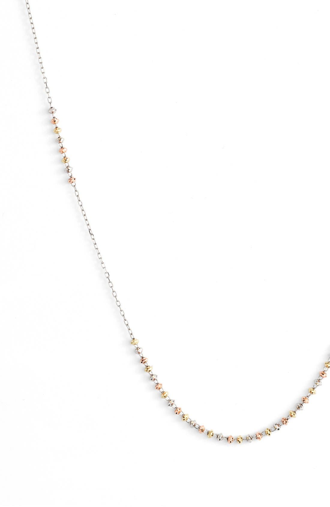 'Shimmer' Strand Necklace,                             Alternate thumbnail 2, color,                             TRI GOLD