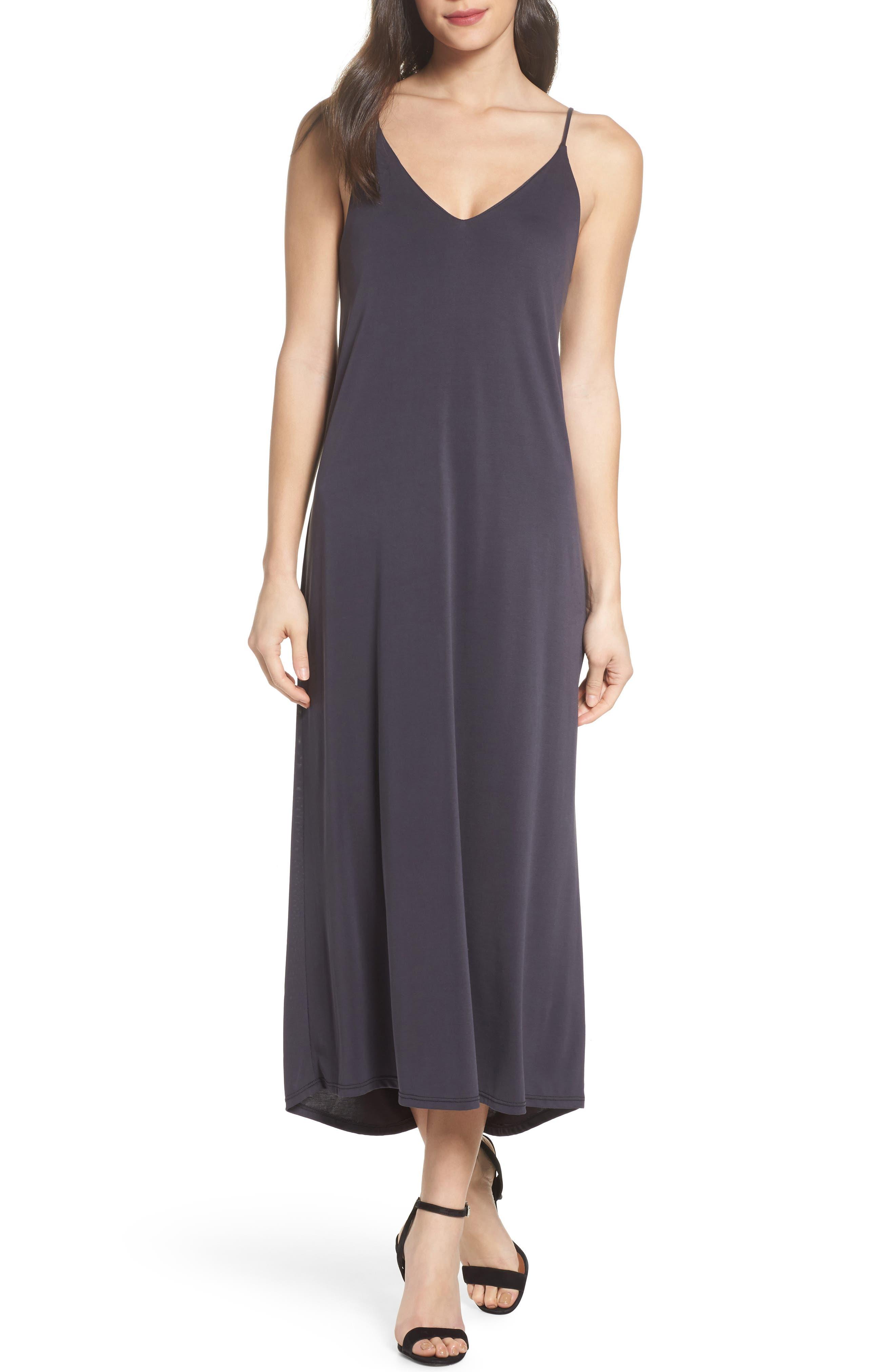 Knit Maxi Dress,                             Main thumbnail 1, color,                             002
