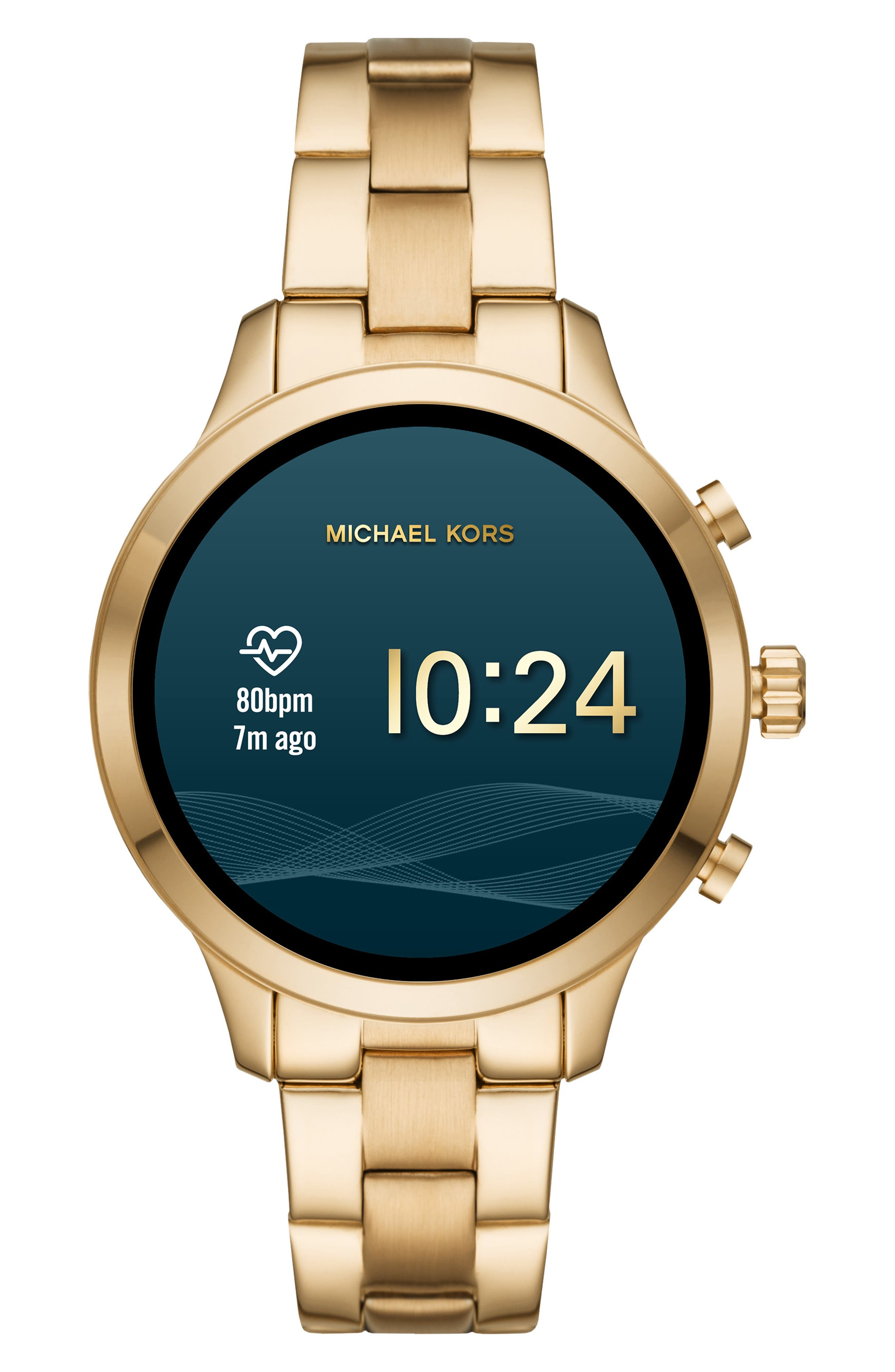 MICHAEL KORS,                             MICHAEL Michael Kors Access Runway Smart Bracelet Watch, 41mm,                             Alternate thumbnail 5, color,                             GOLD