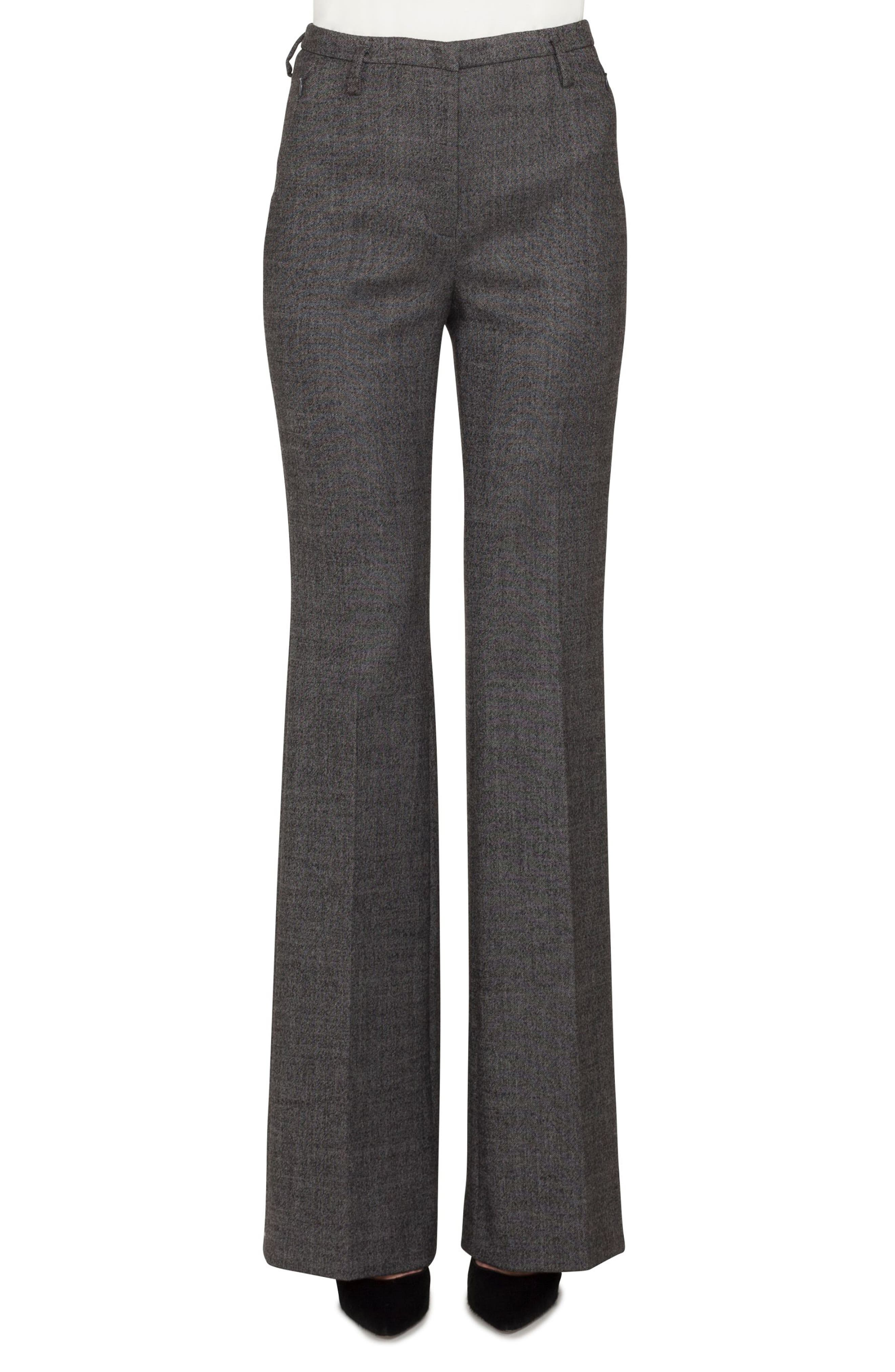 Akris Farrah Stretch Tweed Flare Pants
