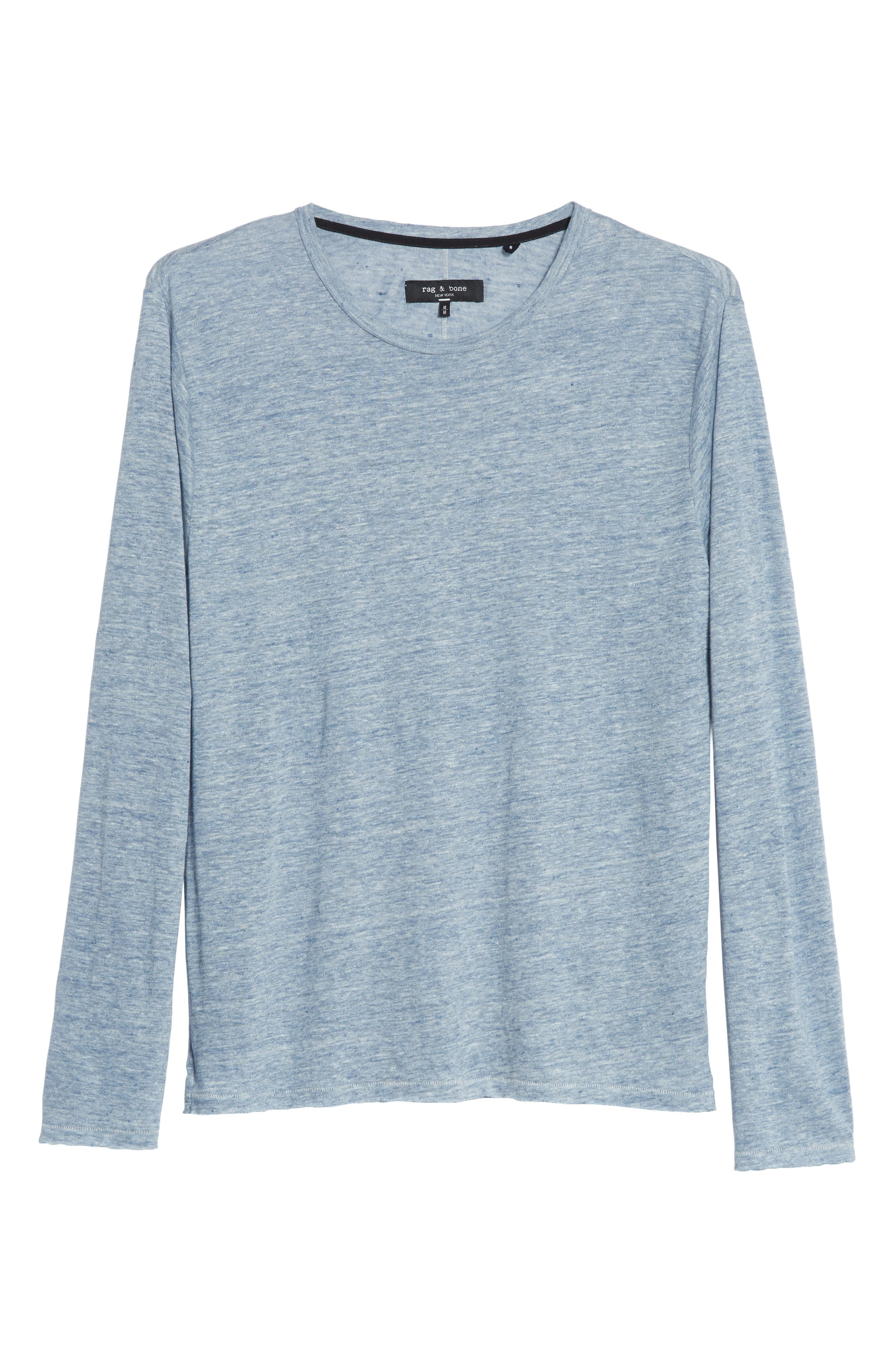 Owen Linen Long Sleeve T-Shirt,                             Alternate thumbnail 18, color,