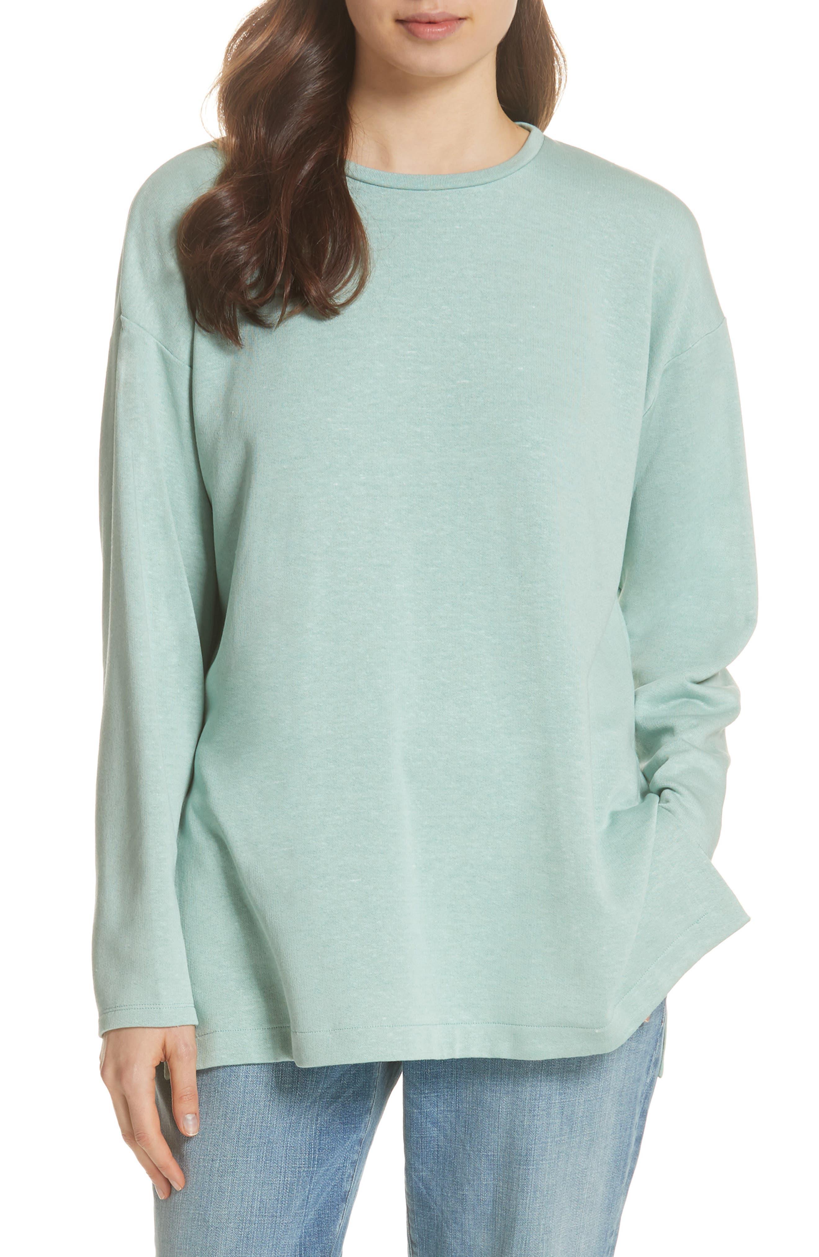 Organic Cotton Blend Top,                         Main,                         color, ELM