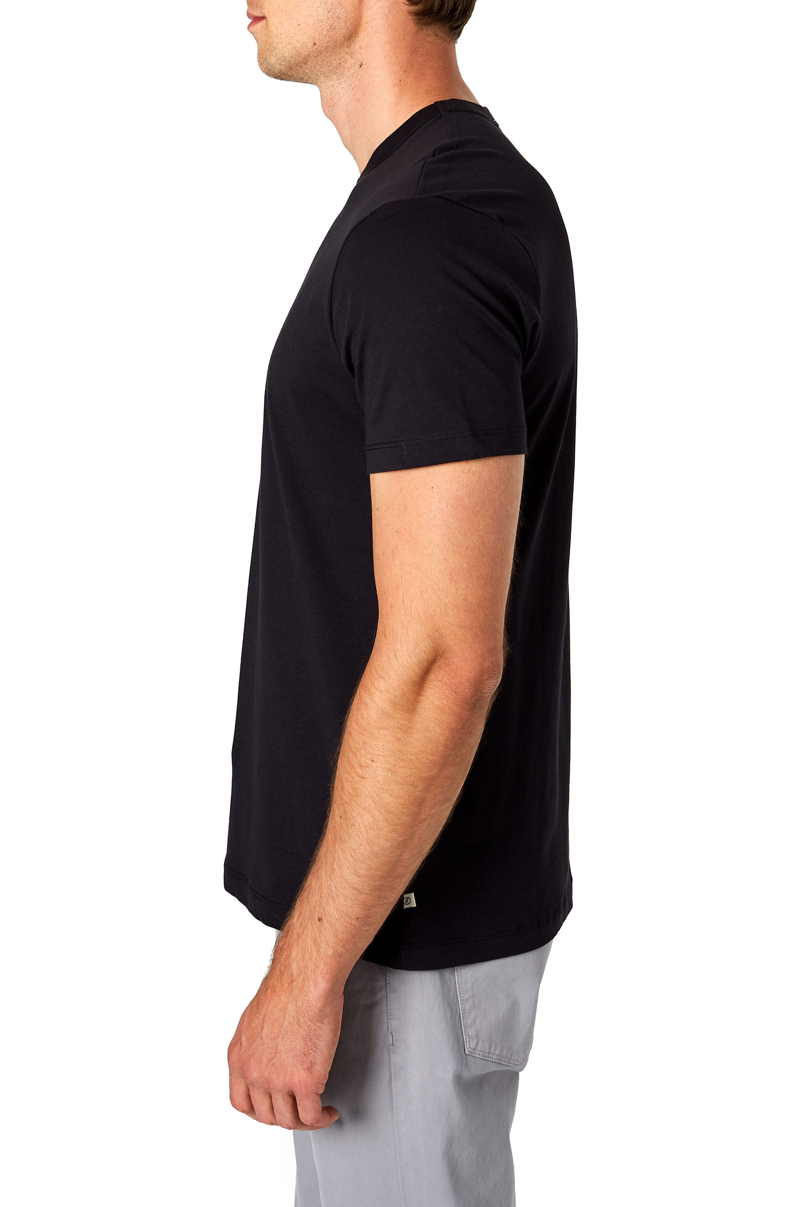 Iqonicq Crewneck T-Shirt,                             Alternate thumbnail 3, color,                             BLACK